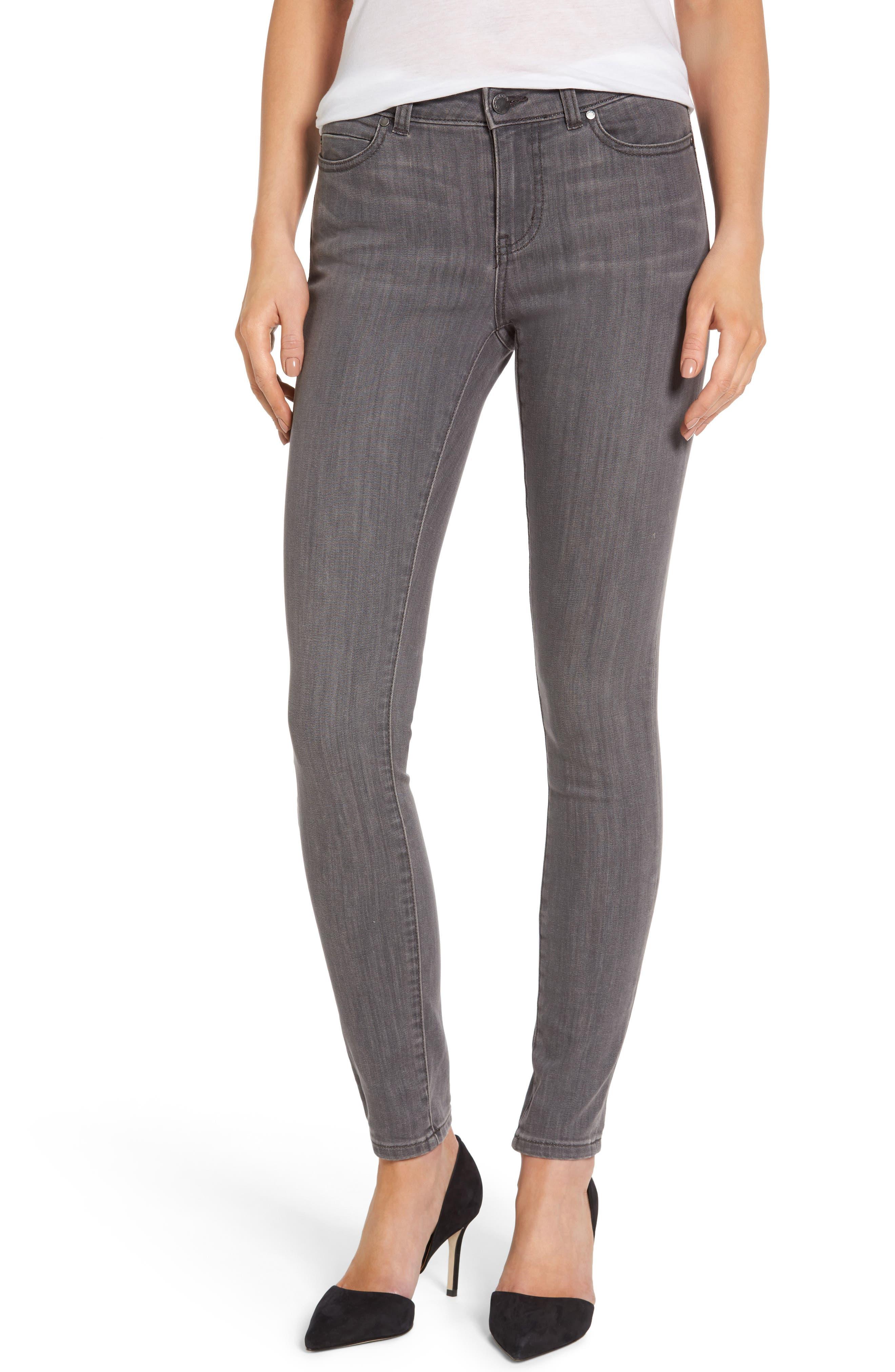 Stretch Skinny Jeans,                             Main thumbnail 1, color,                             Grey Adoria Wash