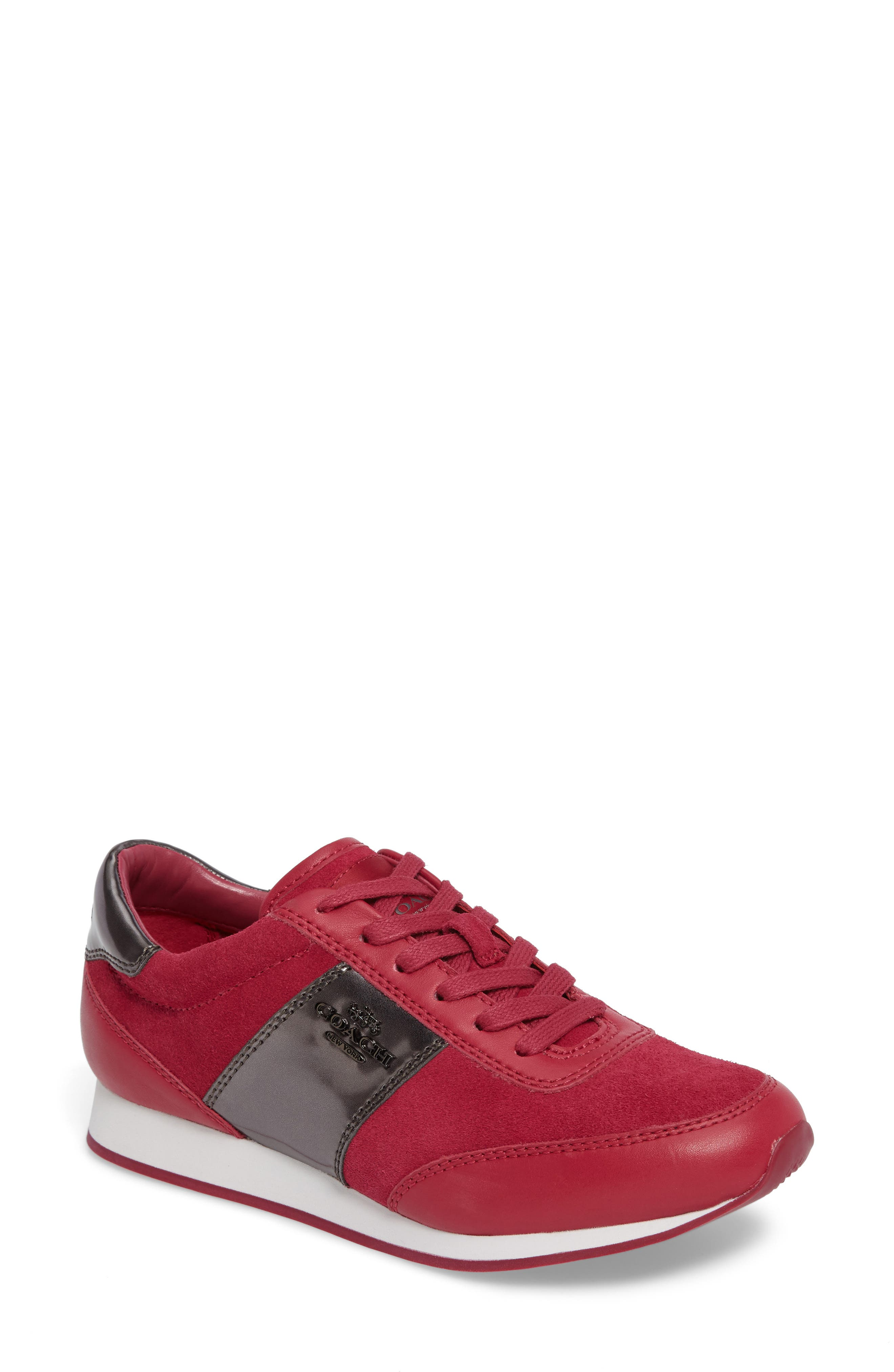 Alternate Image 1 Selected - COACH 'Raylen' Leather Sneaker
