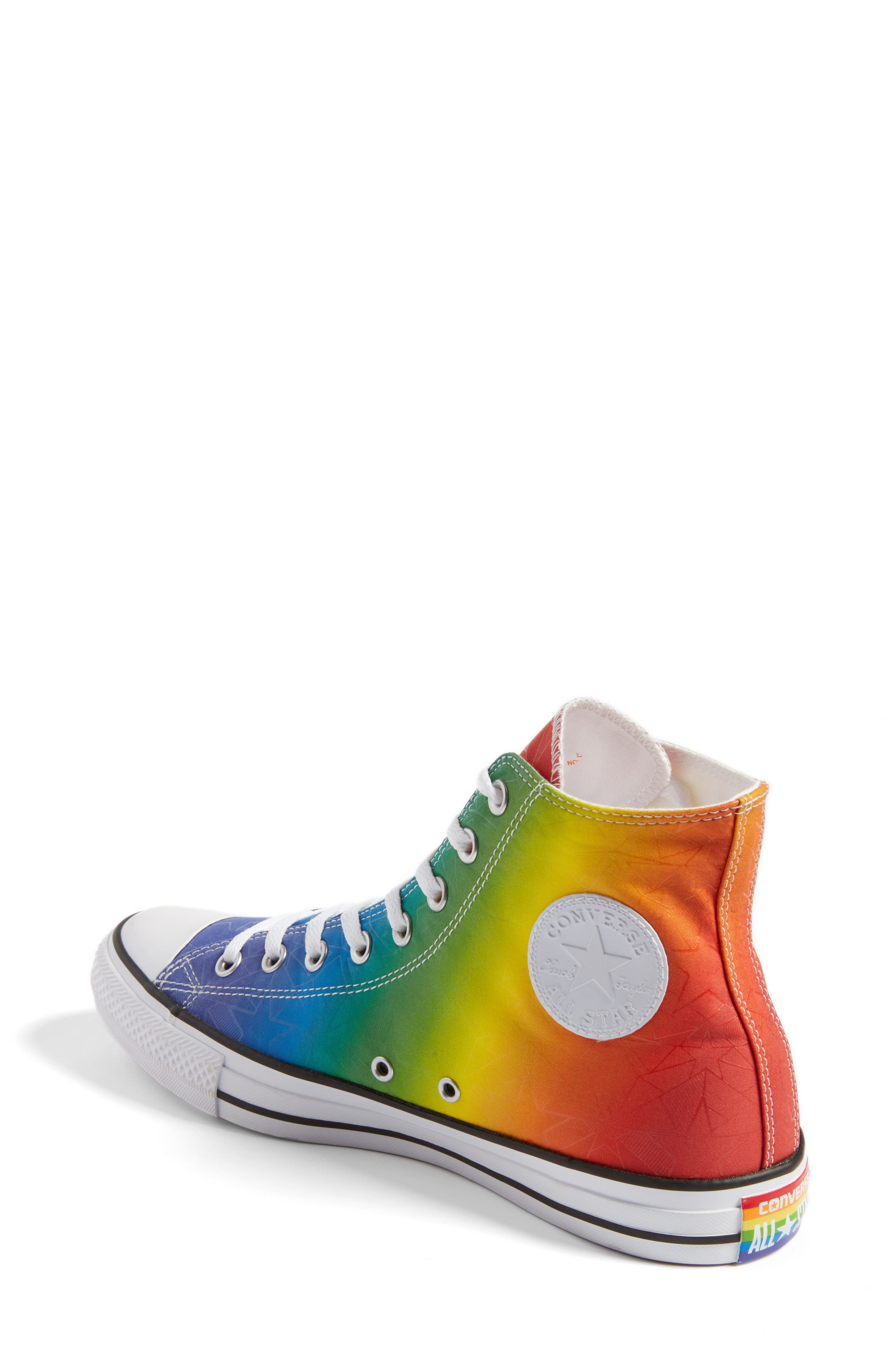 Chuck Taylor<sup>®</sup> All Star<sup>®</sup> Pride High Top Sneaker,                             Alternate thumbnail 2, color,                             Purple