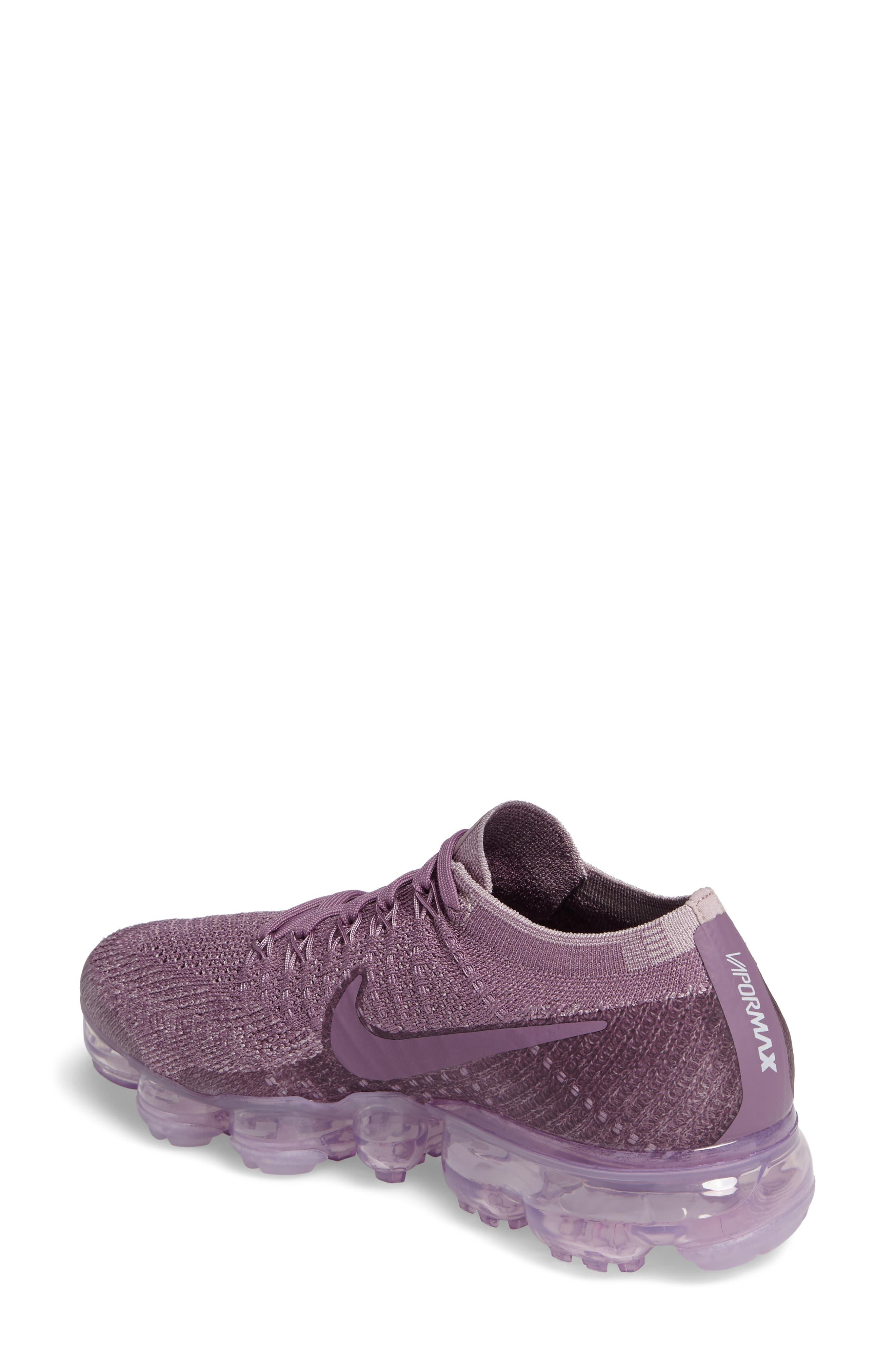 Air VaporMax Flyknit Running Shoe,                             Alternate thumbnail 2, color,                             Violet Dust/ Plum Fog