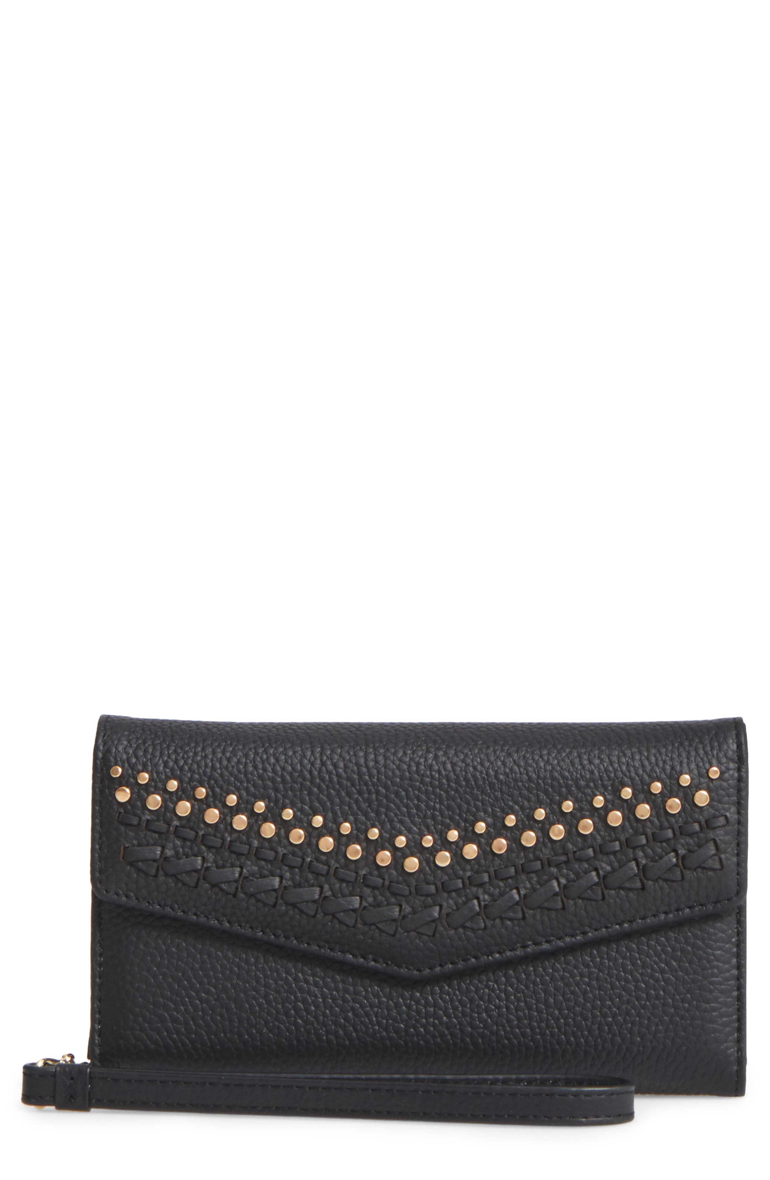 REBECCA MINKOFF Leather Whipstitch iPhone7 Wristlet