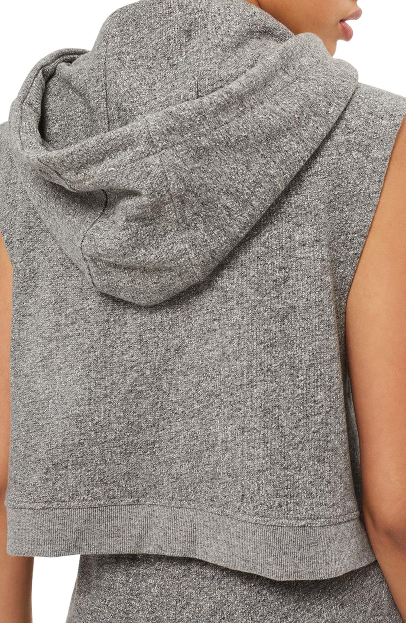 Alternate Image 3  - IVY PARK® Chenille Logo Sleeveless Crop Hoodie