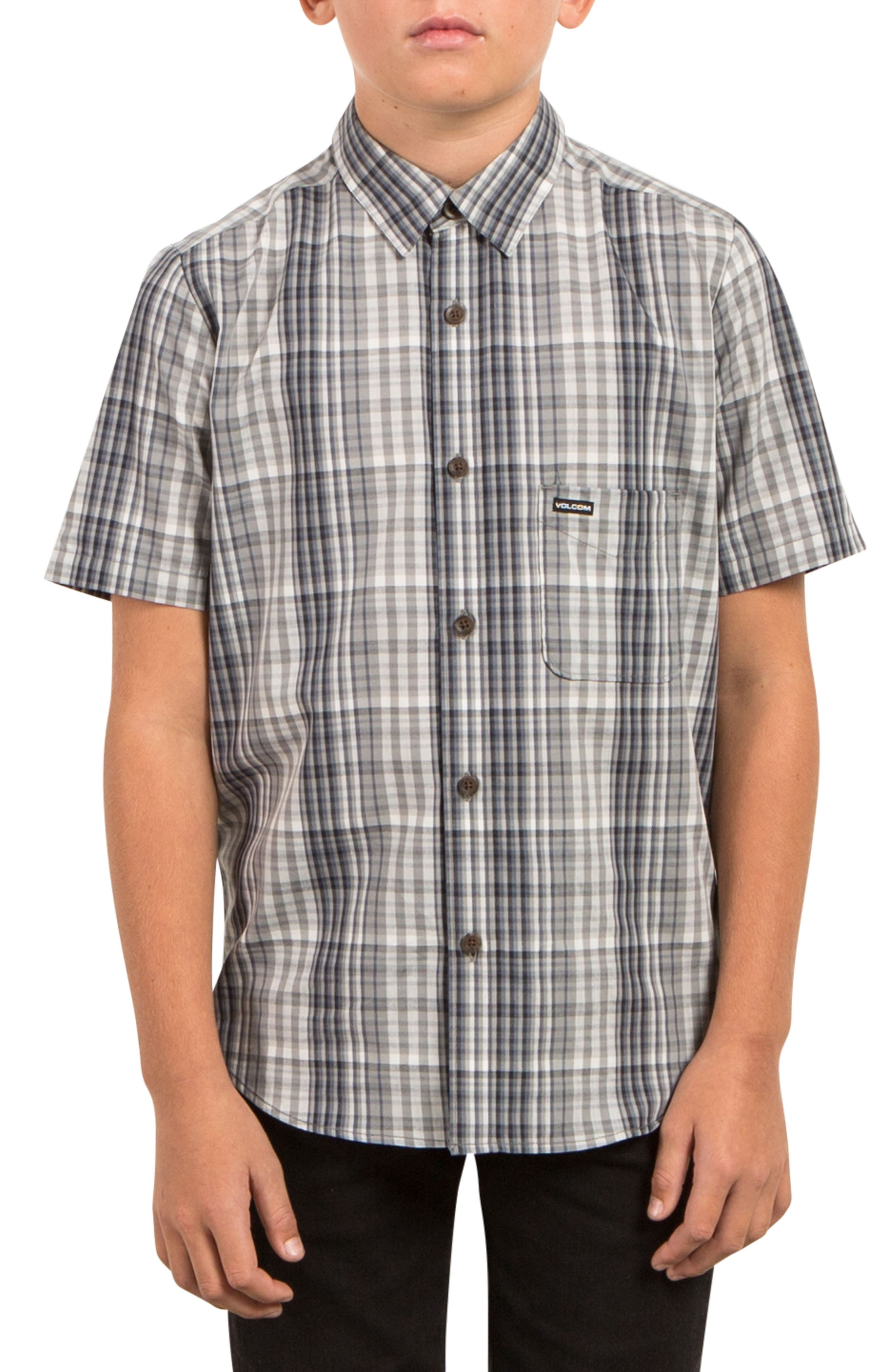 Volcom Hugo Plaid Woven Shirt (Toddler Boys, Little Boys & Big Boys)