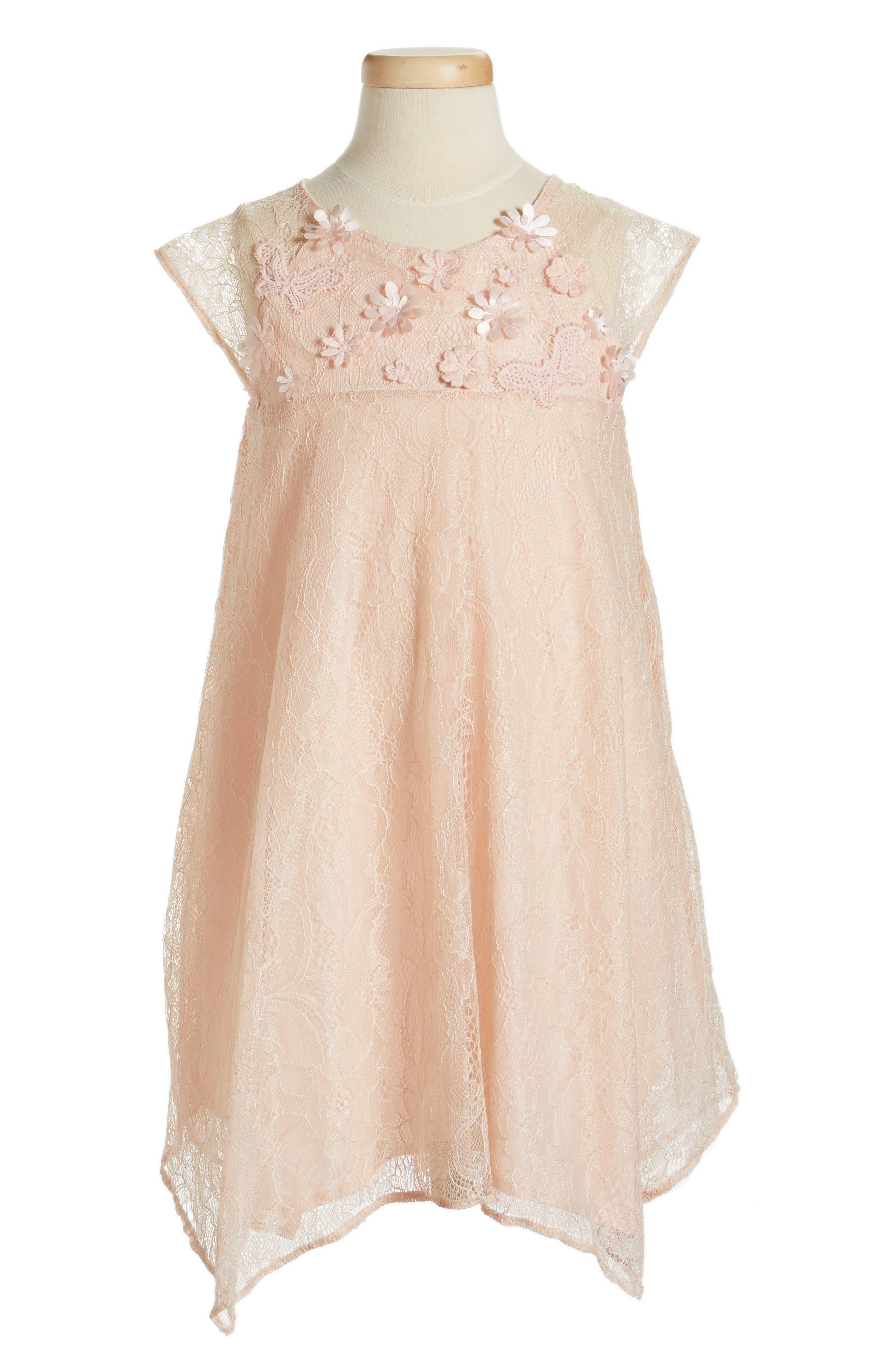 Popatu Lace Shift Dress (Toddler Girls, Little Girls & Big Girls)