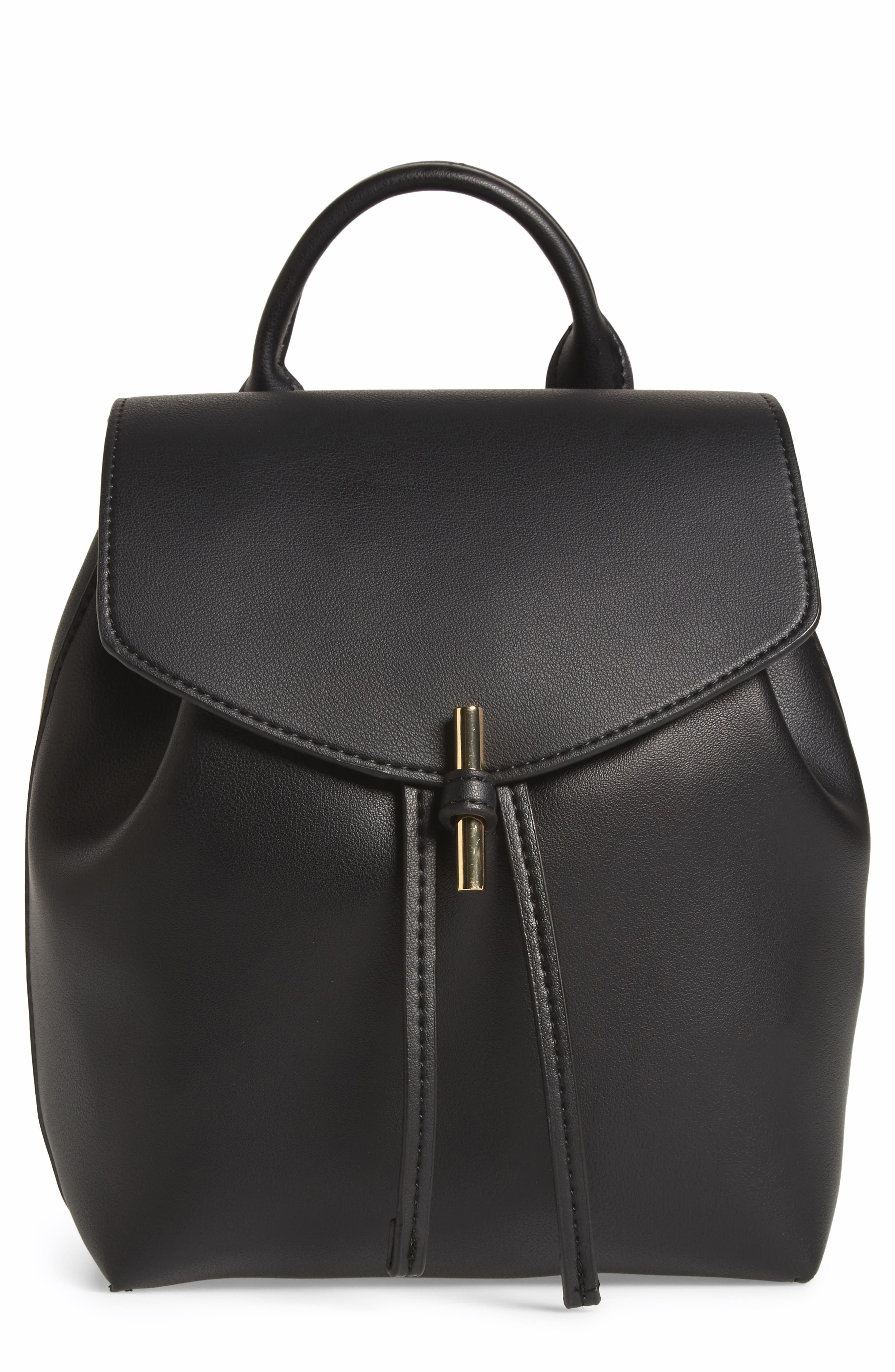 Main Image - Topshop Blake Mini Faux Leather Backpack