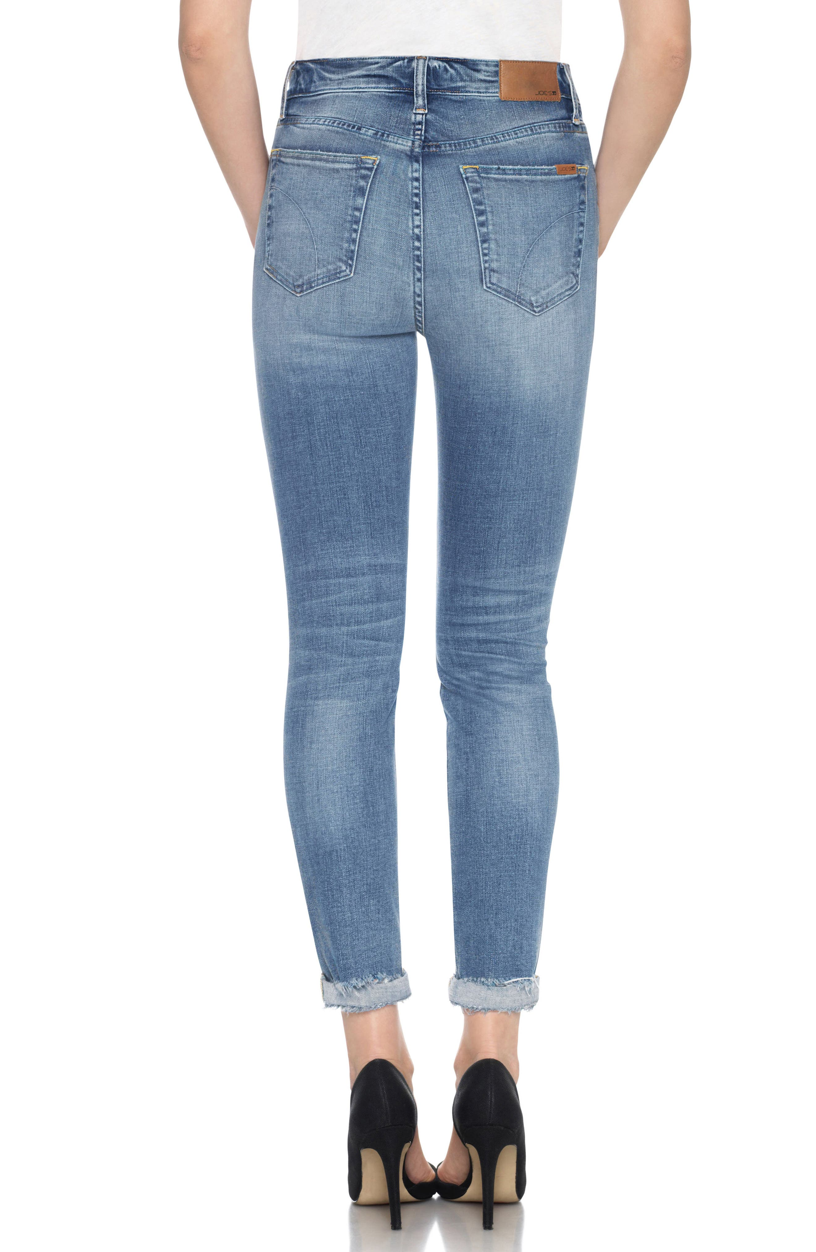 Alternate Image 2  - Joe's Bella High Waist Crop Skinny Jeans (Mailou)