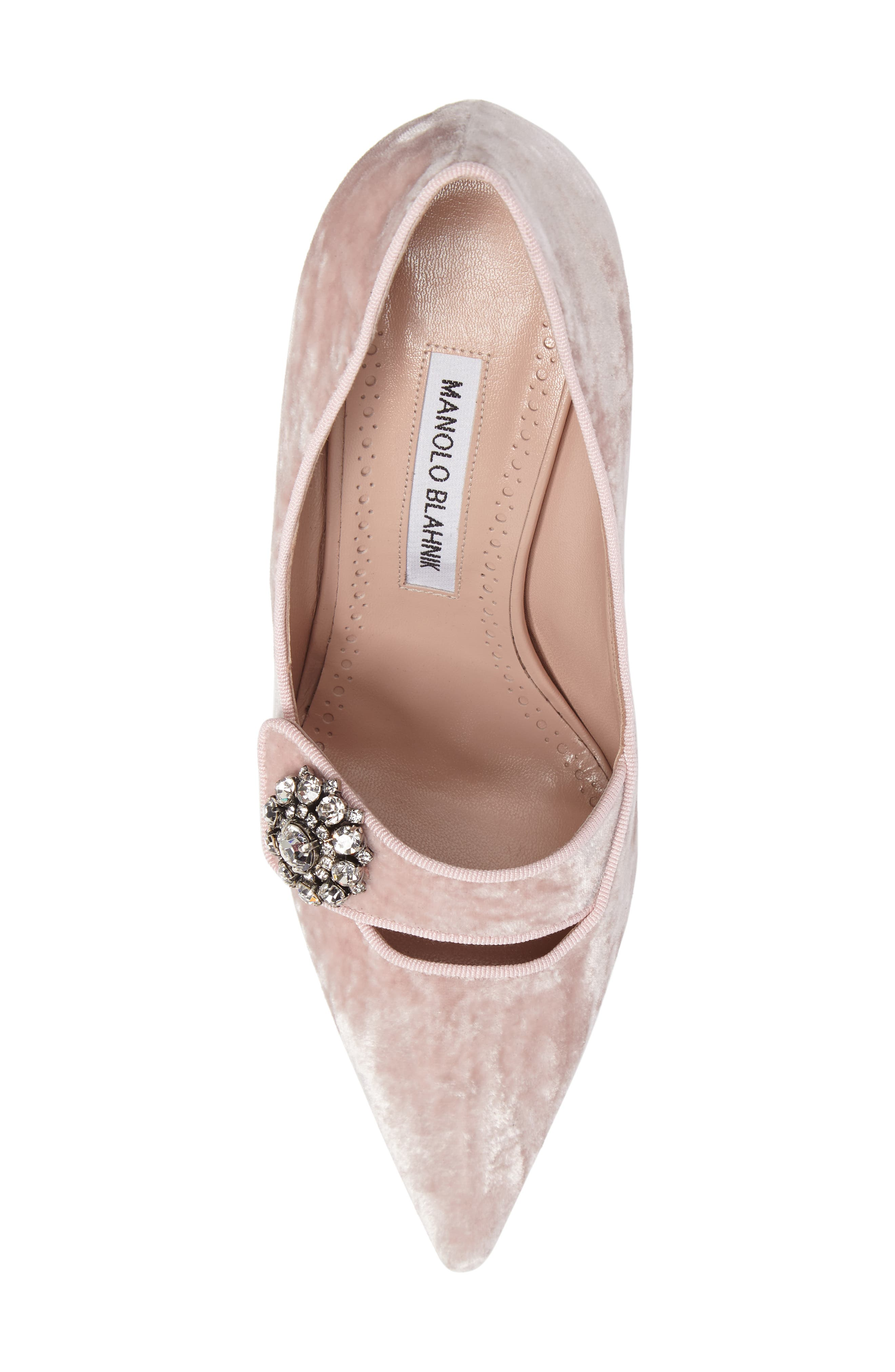 Decebalo Pump,                             Alternate thumbnail 5, color,                             Blush Velvet