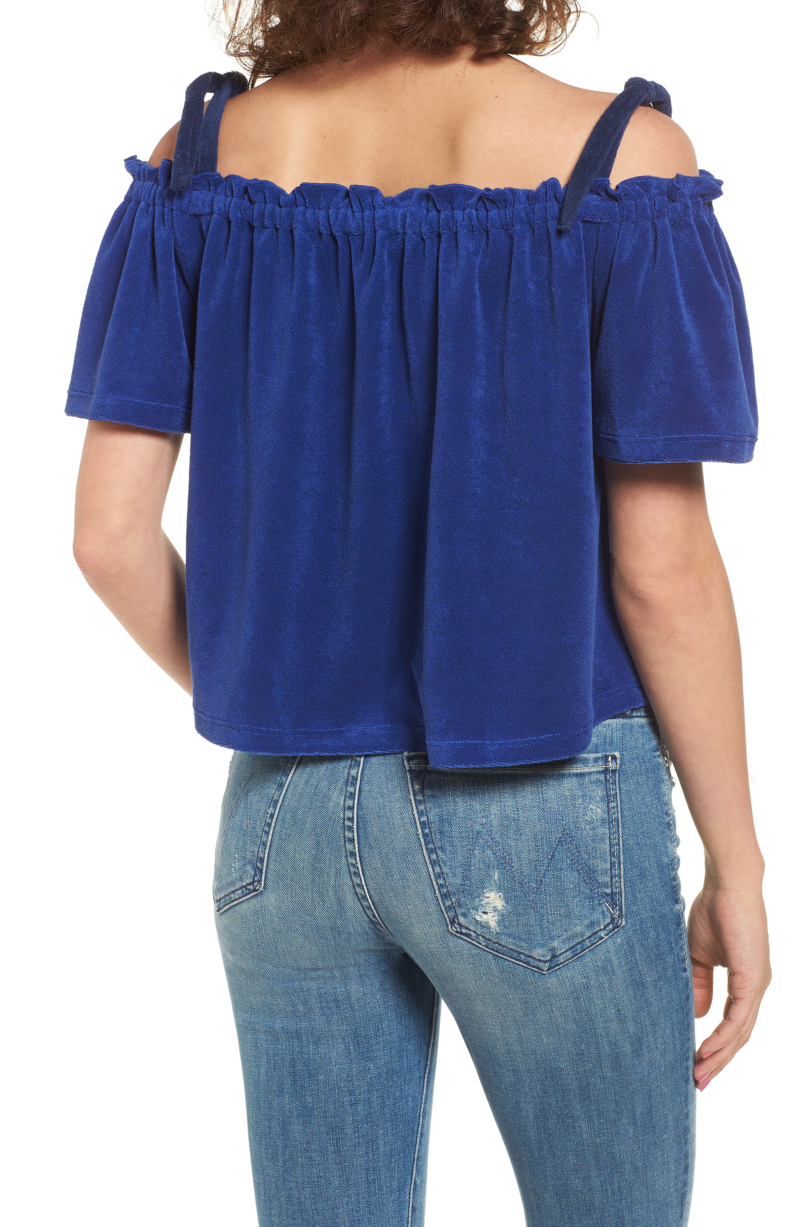 Alternate Image 2  - Juicy Couture Venice Beach Microterry Off the Shoulder Top