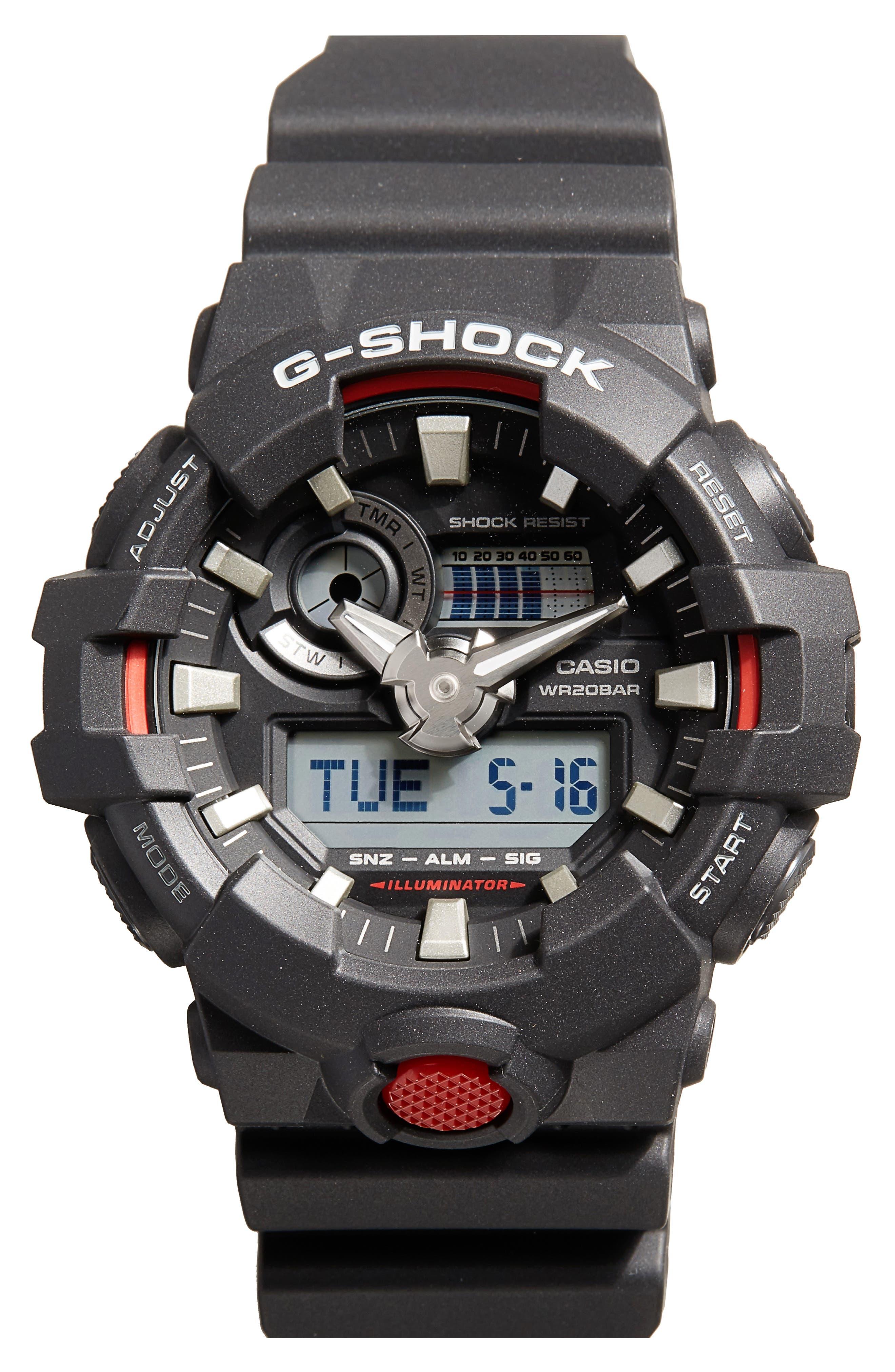 G-SHOCK BABY-G G-Shock GA700 Ana-Digi Watch Set, 55mm