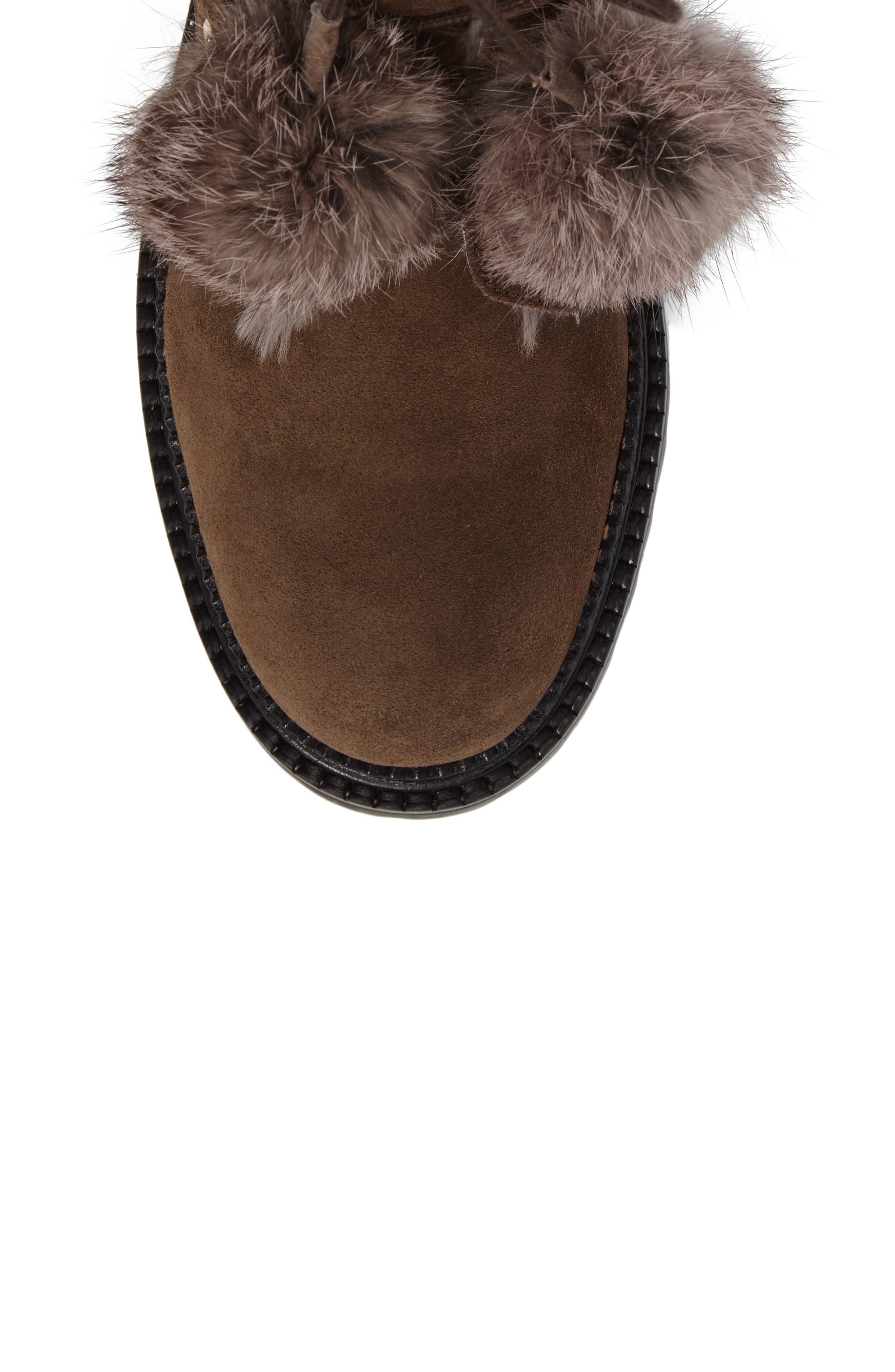 Alternate Image 5  - Jimmy Choo Elba Genuine Rabbit Fur Boot (Women)