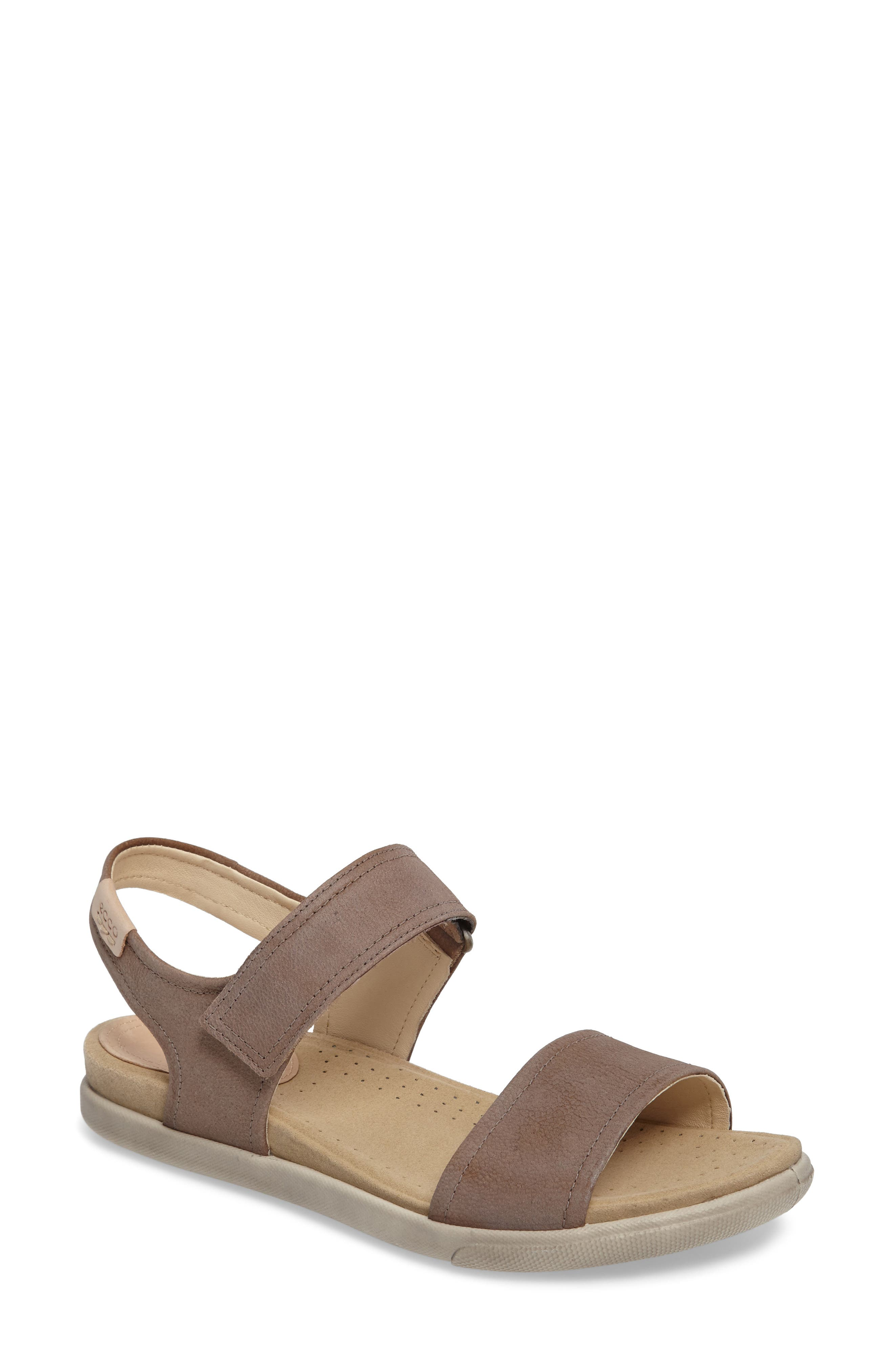 'Damara' Strap Sandal,                             Main thumbnail 1, color,                             Birch Leather