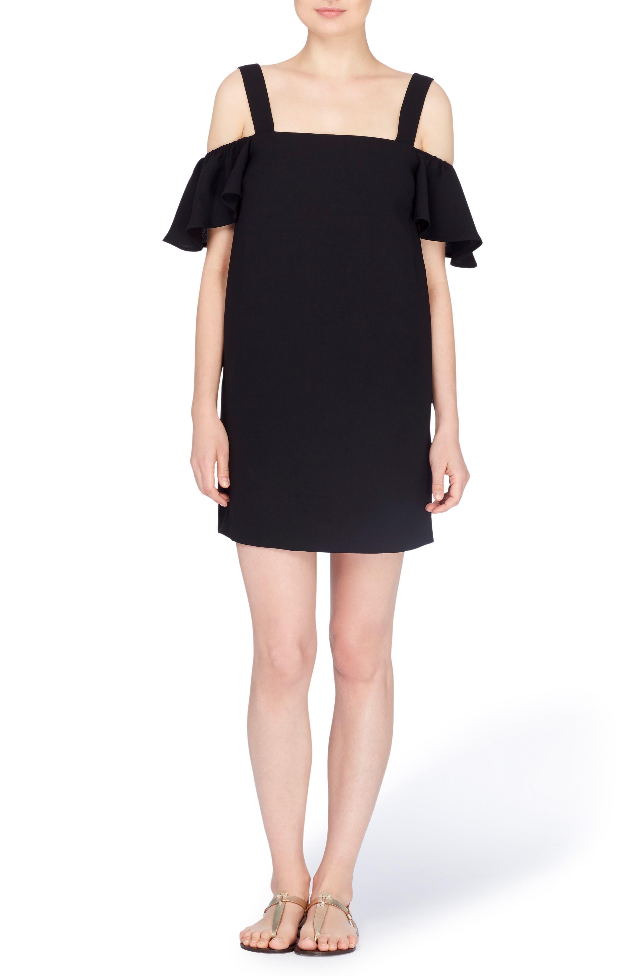 Hale Cold Shoulder Dress,                             Main thumbnail 1, color,                             Black Beauty