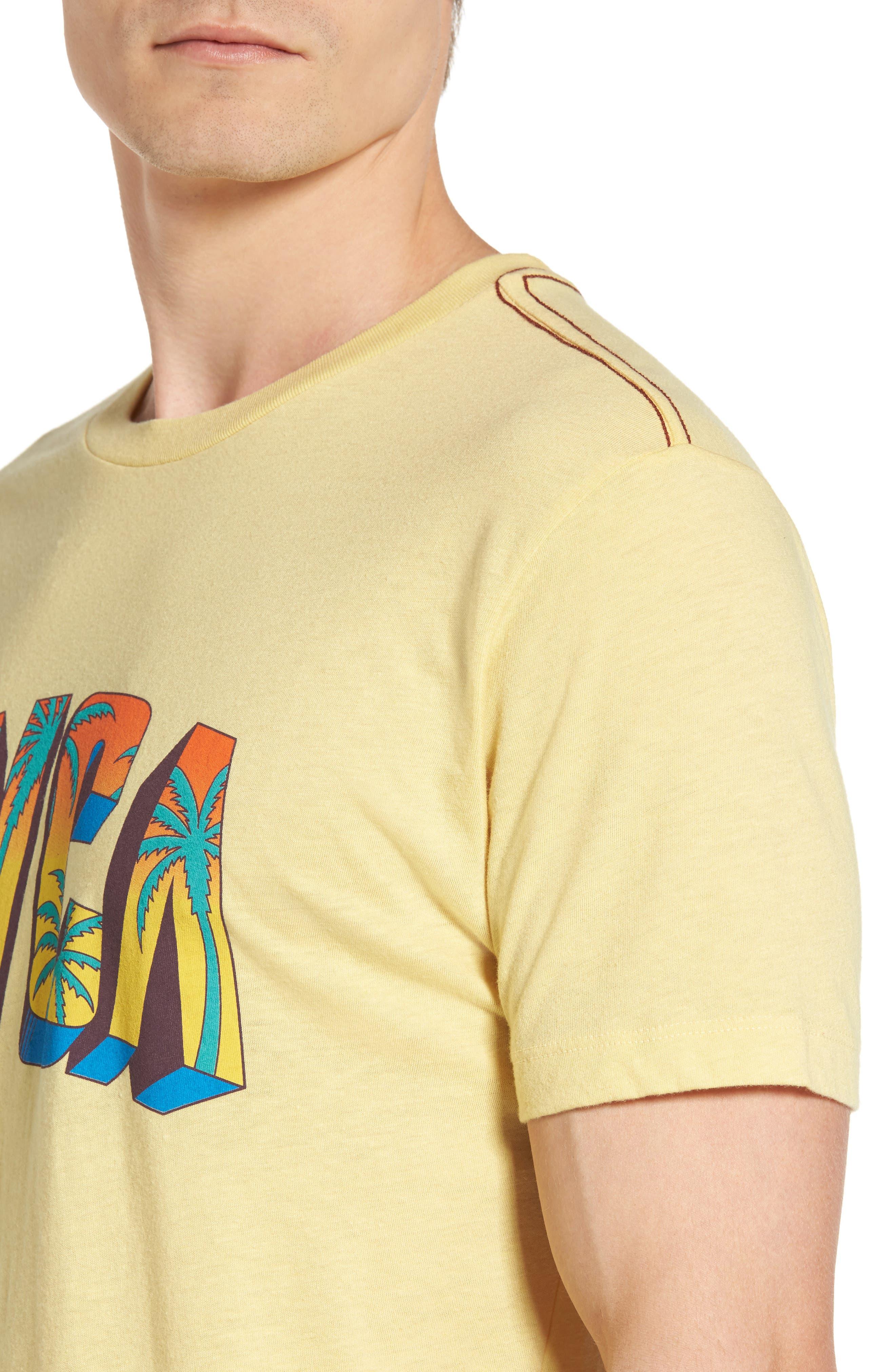 Alternate Image 4  - RVCA Block Graphic T-Shirt