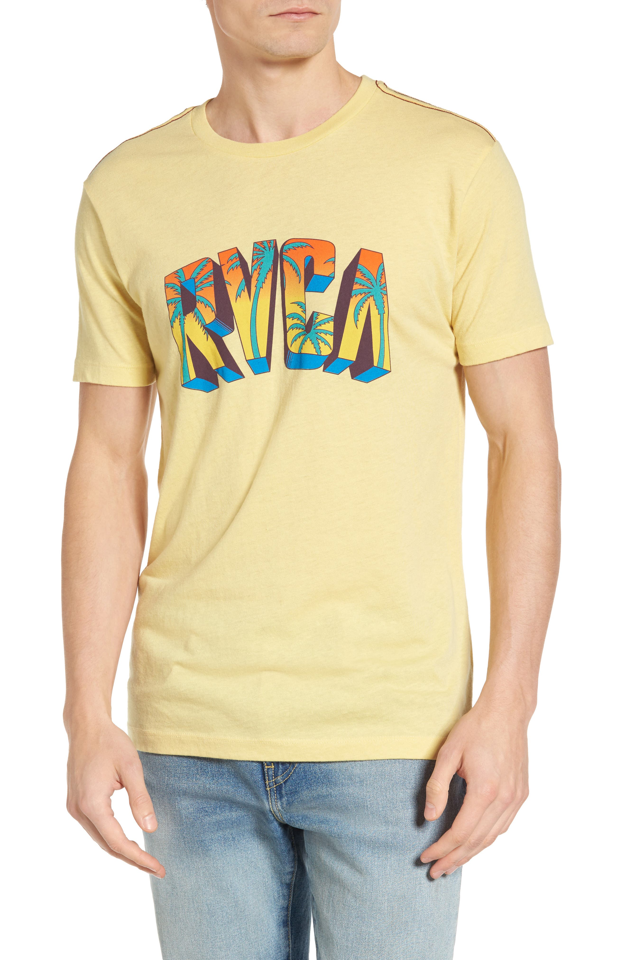 Alternate Image 1 Selected - RVCA Block Graphic T-Shirt