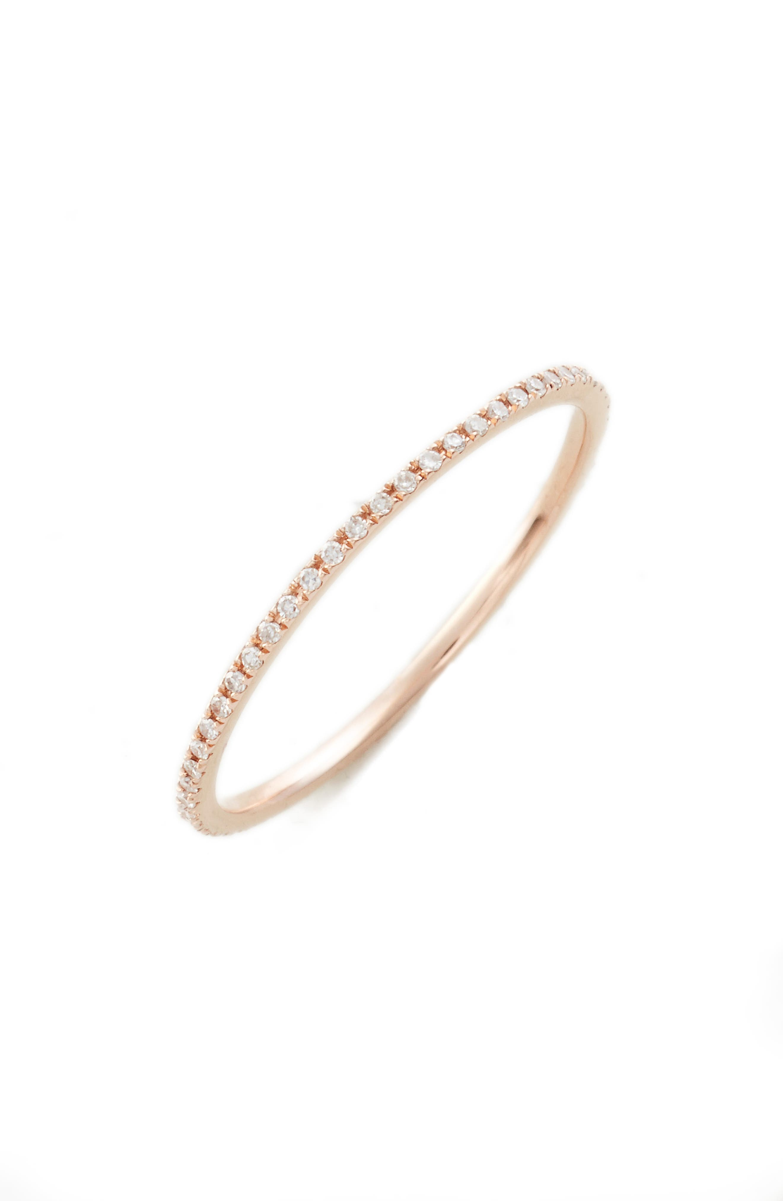 Two-Tone Diamond Stack Ring,                             Main thumbnail 1, color,                             Rose Gold