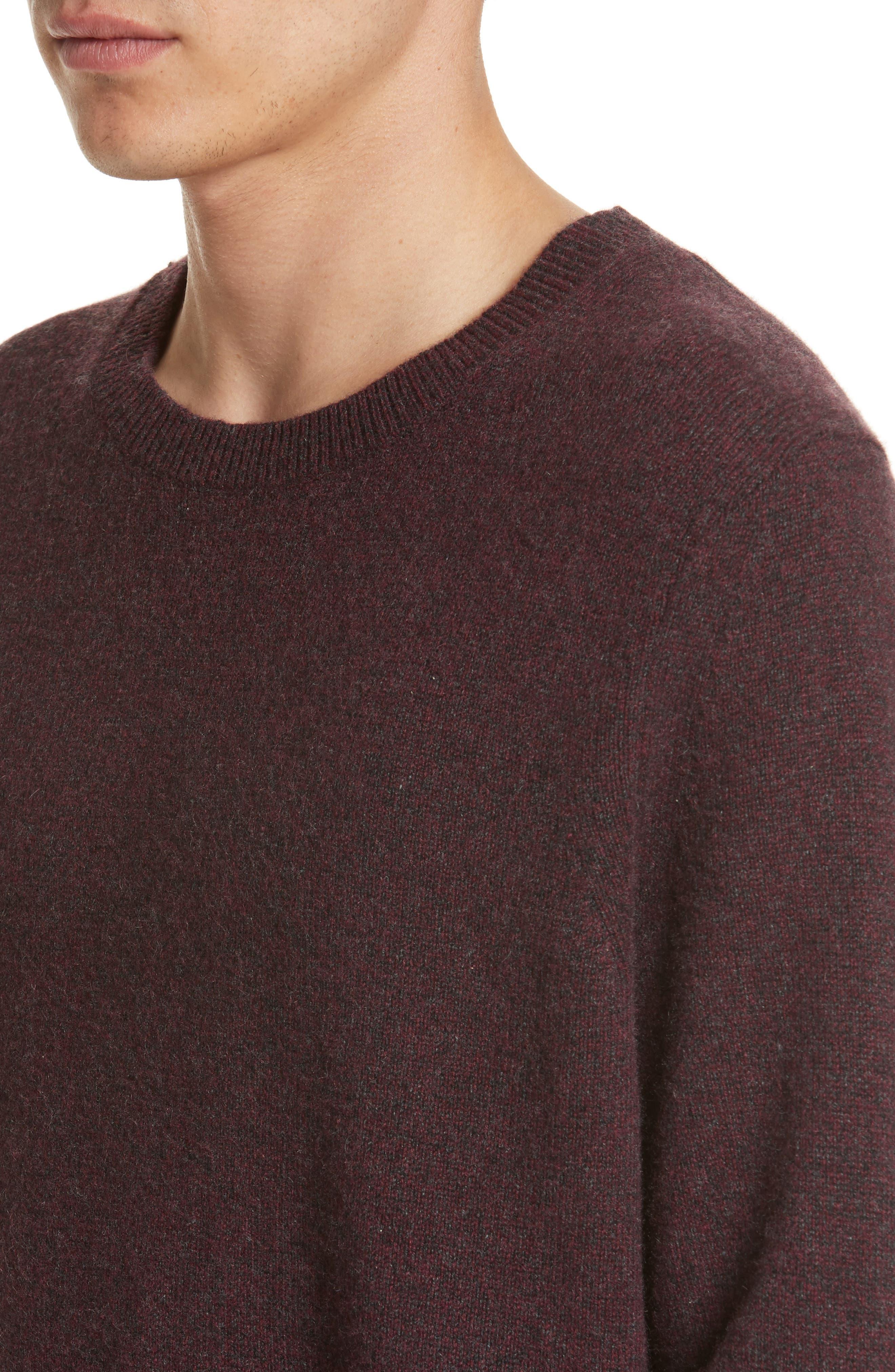 Holdon Cashmere Sweater,                             Alternate thumbnail 4, color,                             Burgundy