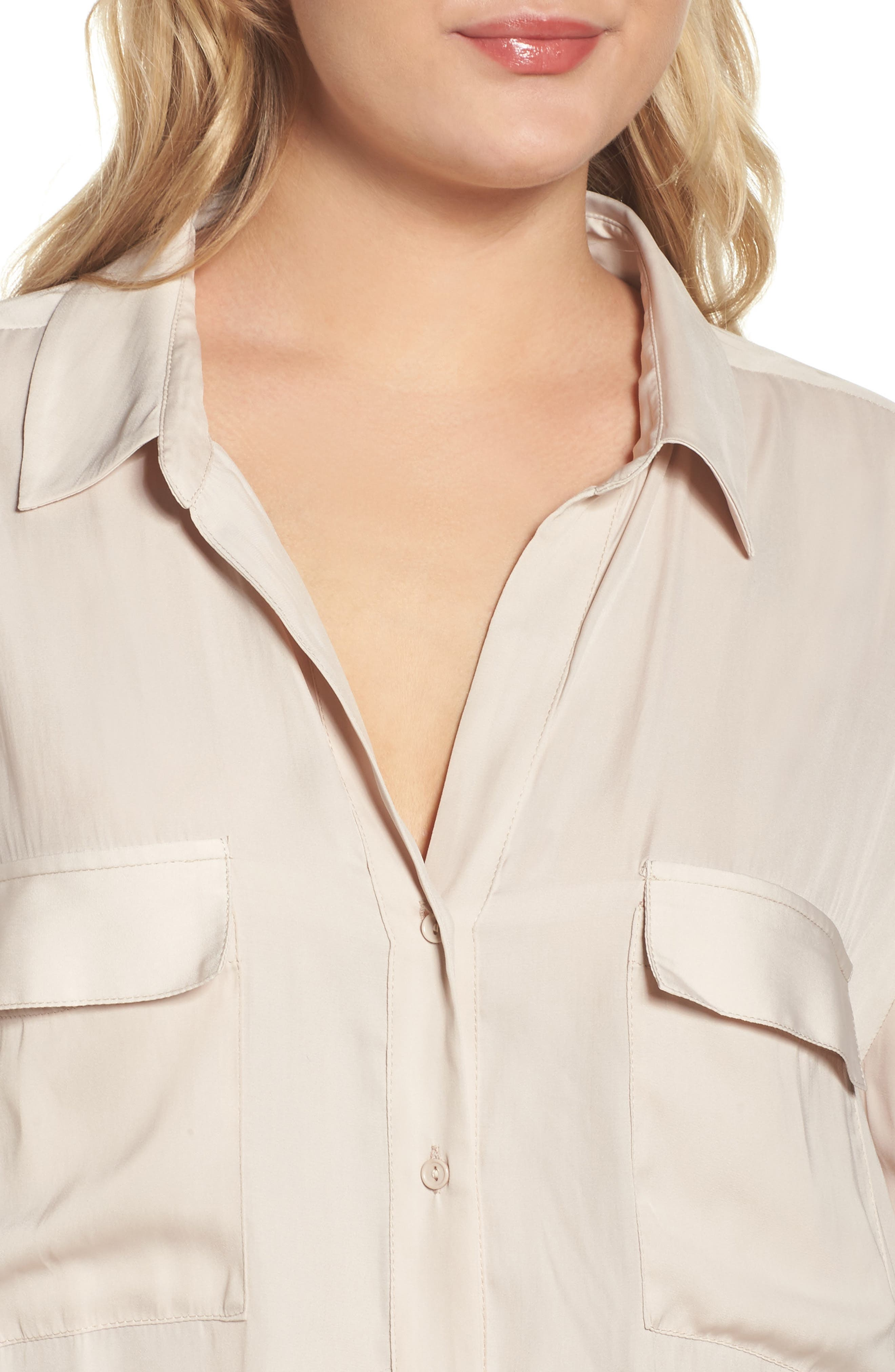 Alternate Image 4  - Tart Carol Roll-Sleeve Blouse (Plus Size)