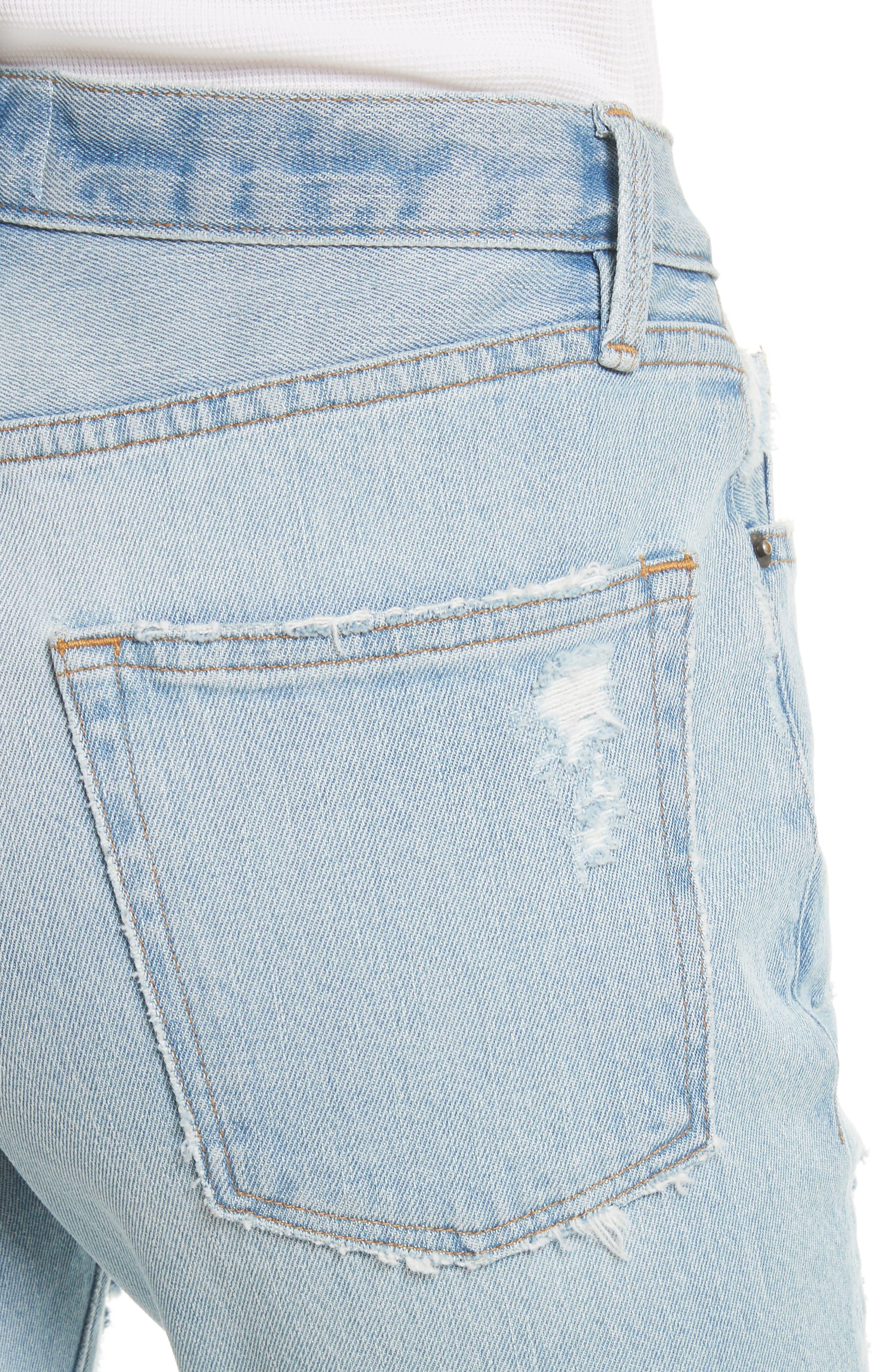 Alternate Image 5  - FRAME Le Original Raw Edge High Waist Jeans (Harrah)