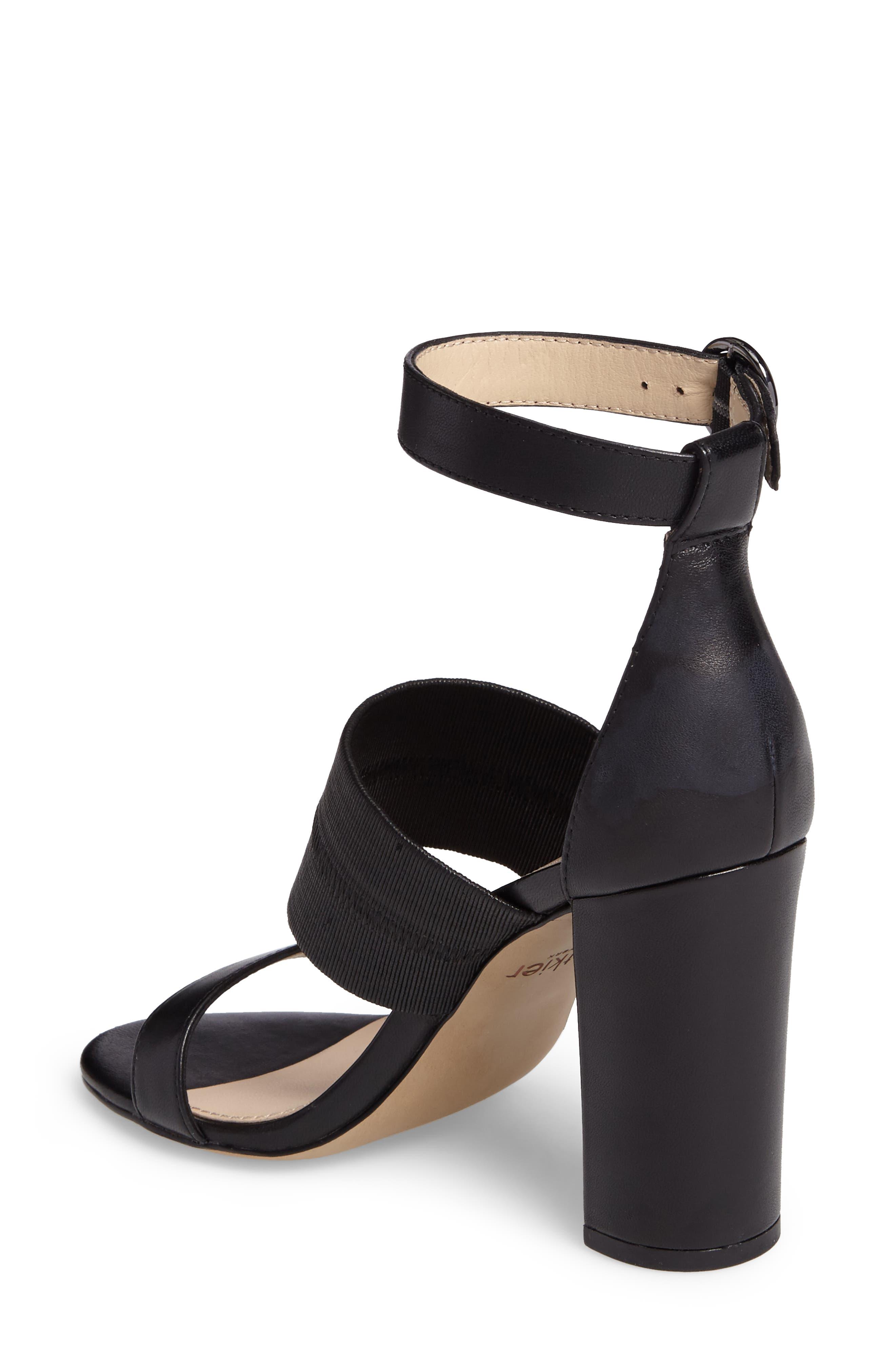 Gisella Ankle Strap Sandal,                             Alternate thumbnail 2, color,                             Black Leather