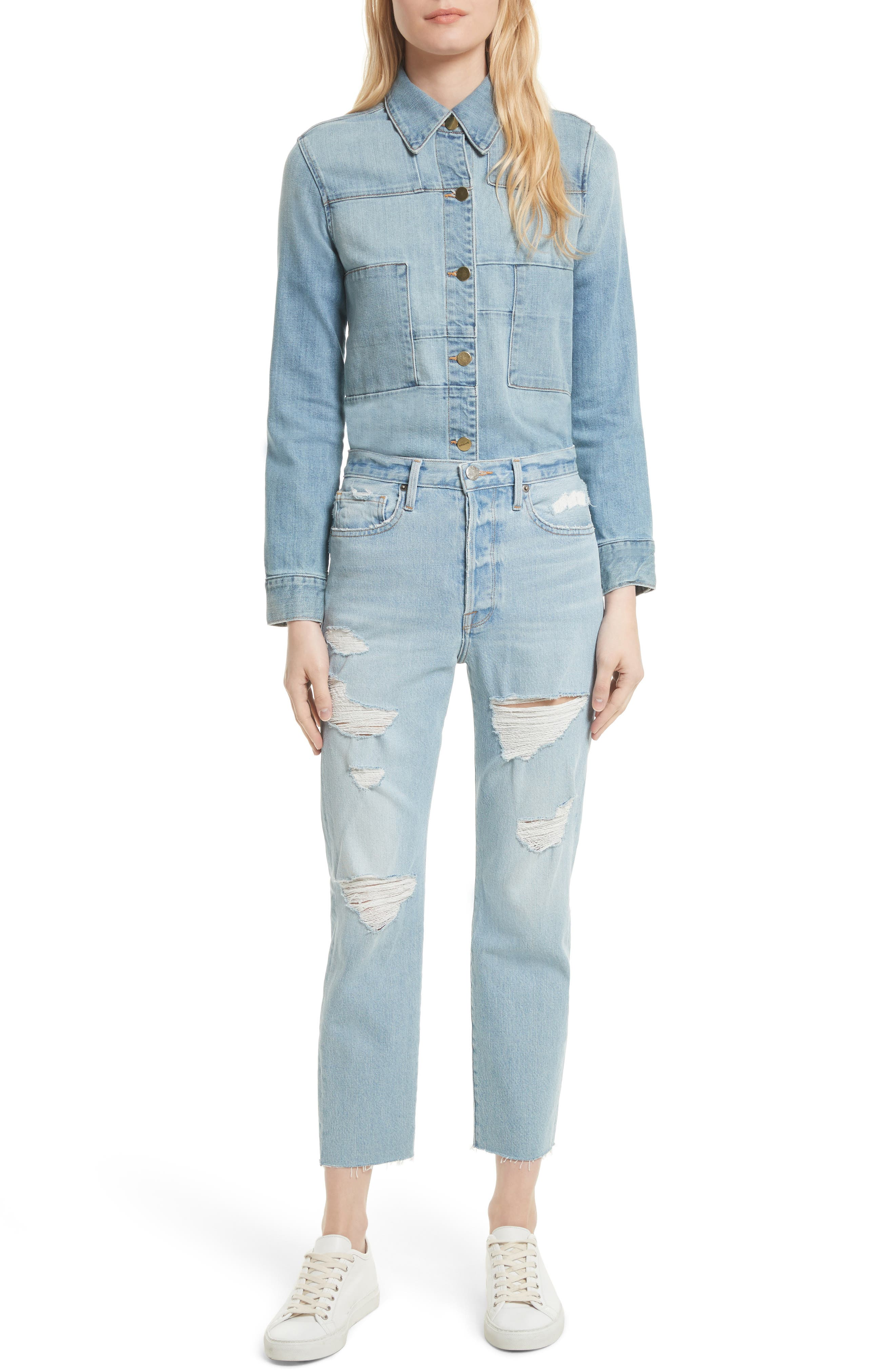 Alternate Image 2  - FRAME Le Original Raw Edge High Waist Jeans (Harrah)