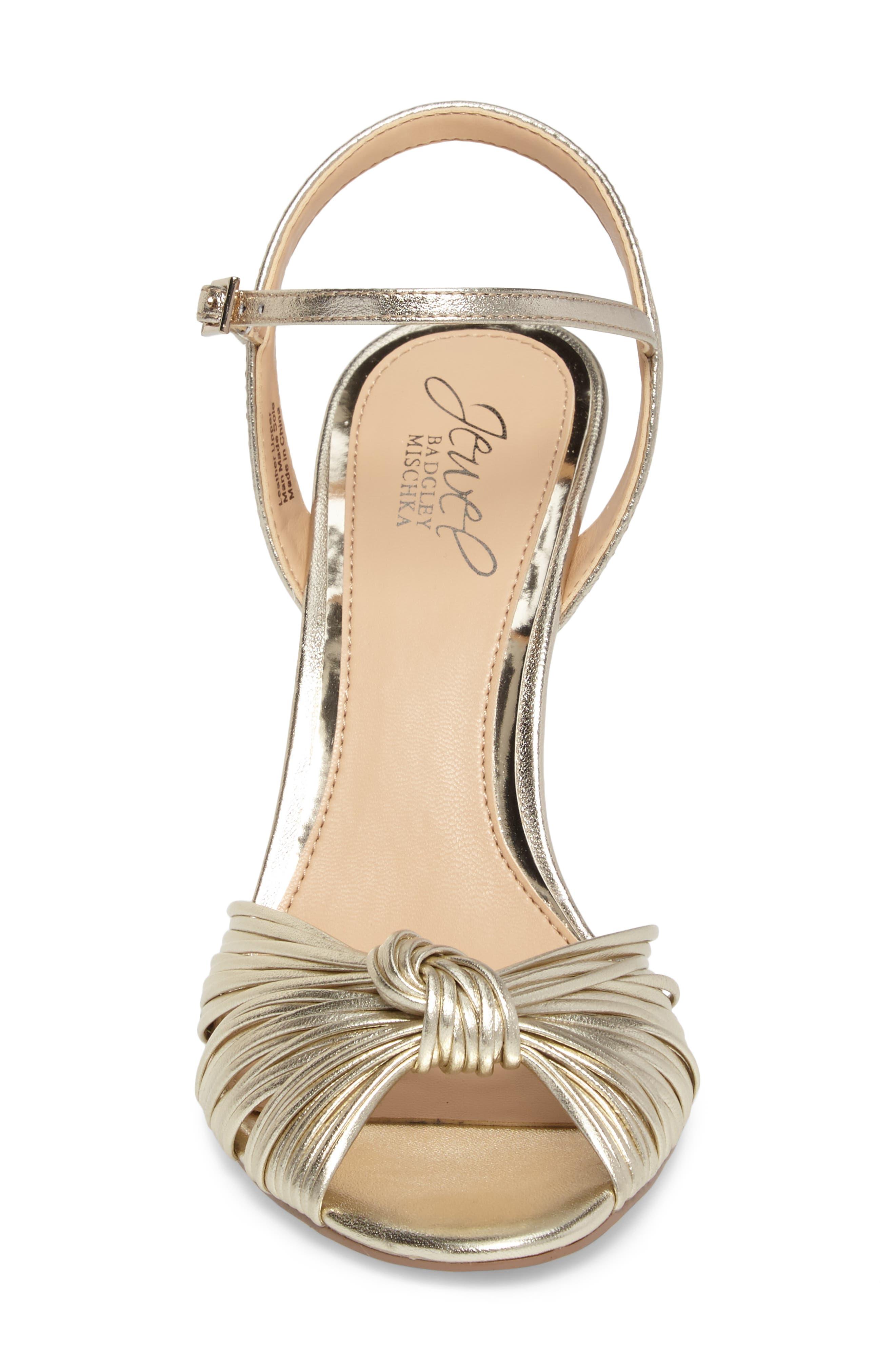 Alternate Image 4  - Jewel Badgley Mischka Lady Ankle Strap Sandal (Women)