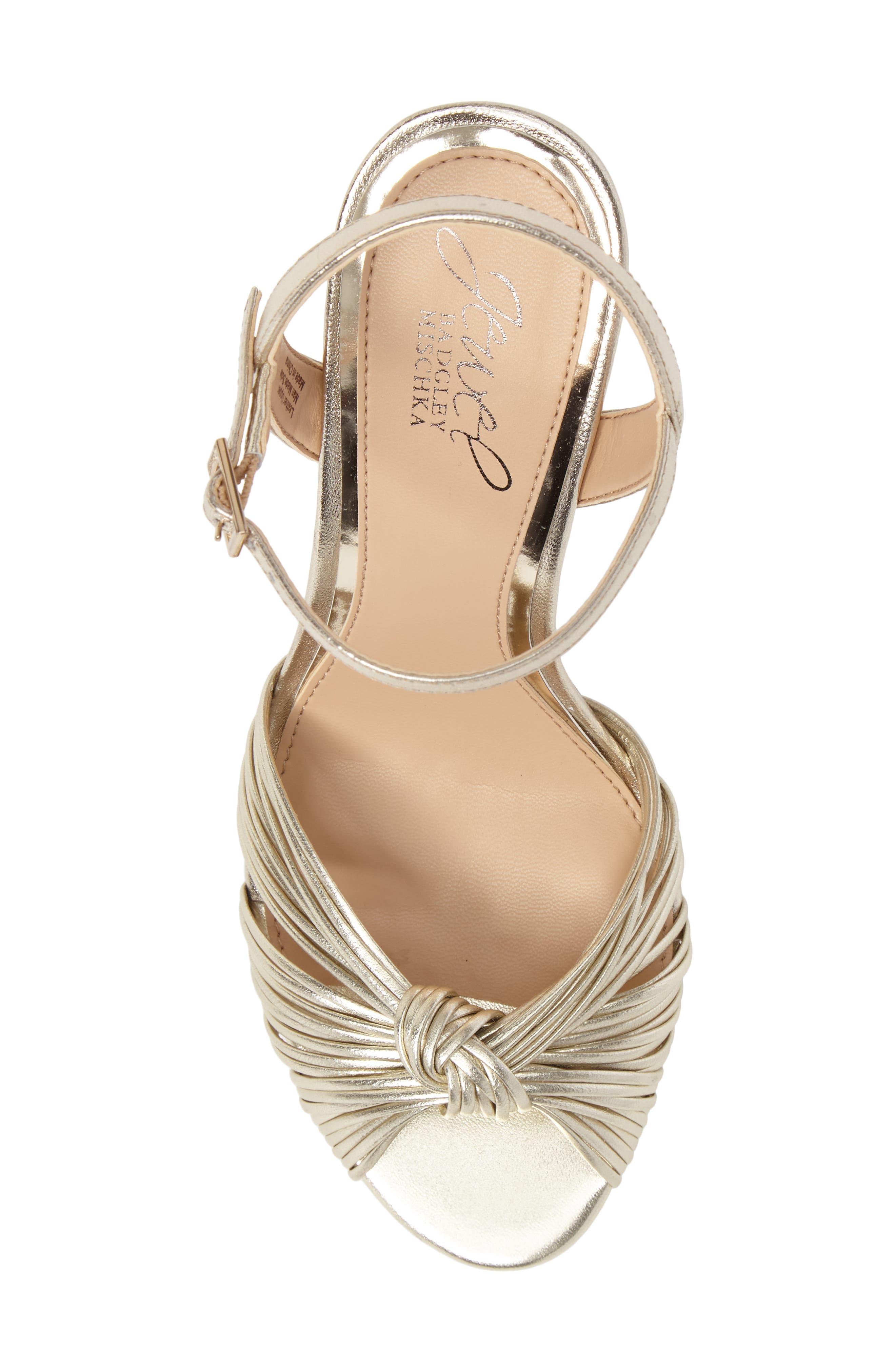 Alternate Image 5  - Jewel Badgley Mischka Lady Ankle Strap Sandal (Women)