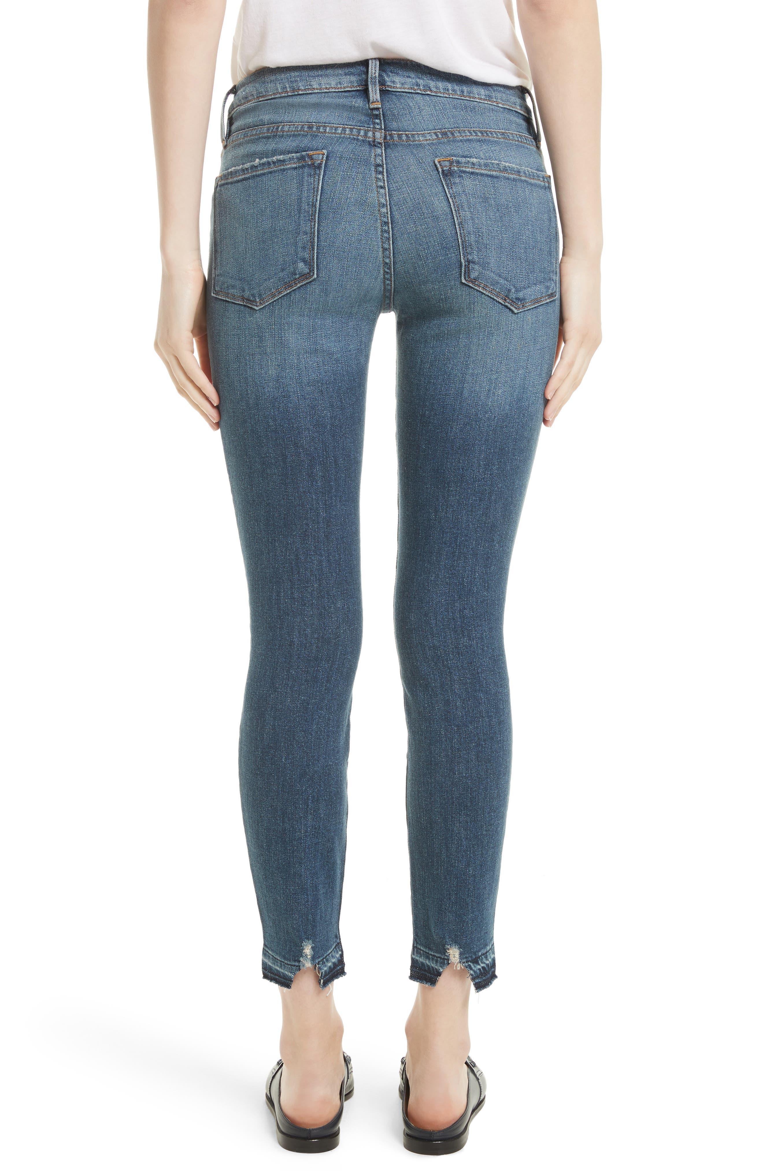 Alternate Image 3  - FRAME Le Skinny de Jeanne Crop Release Hem Jeans (Roberts) (Nordstrom Exclusive)