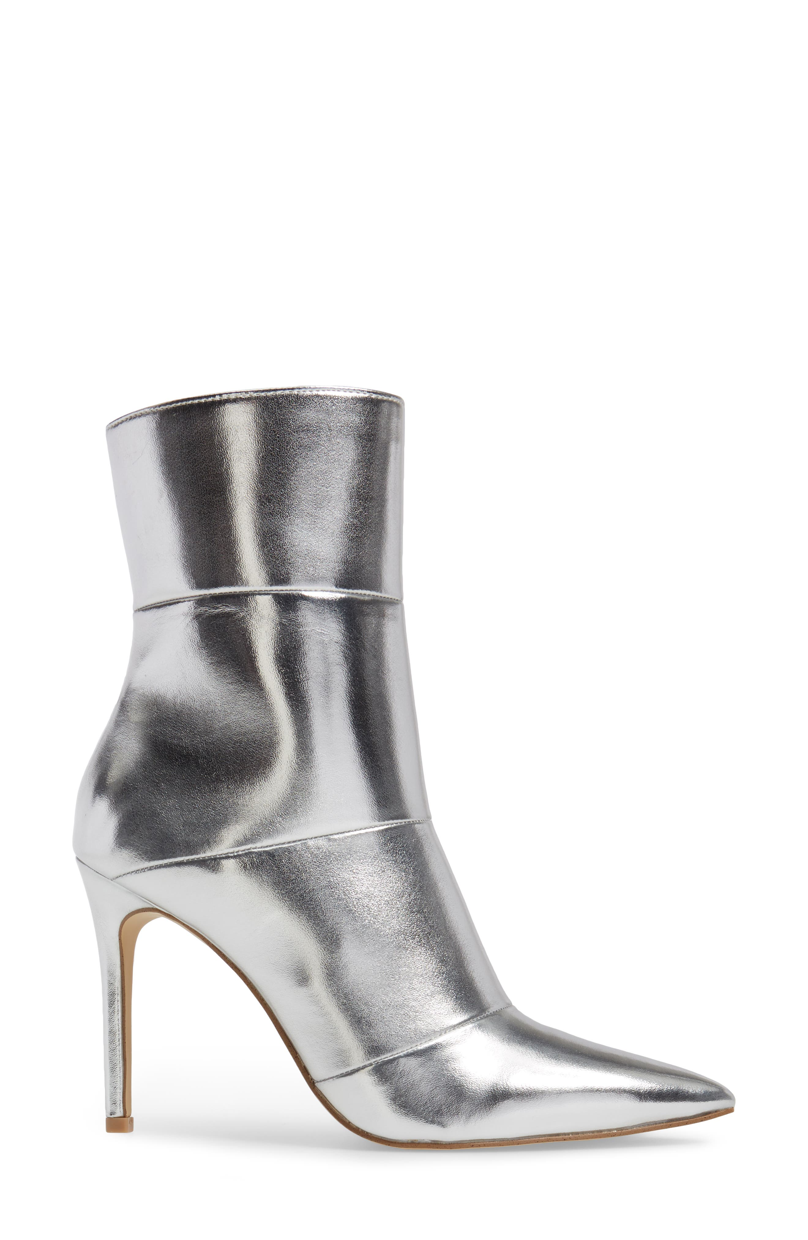 by Zendaya Nicolette Pointy Toe Bootie,                             Alternate thumbnail 3, color,                             Silver