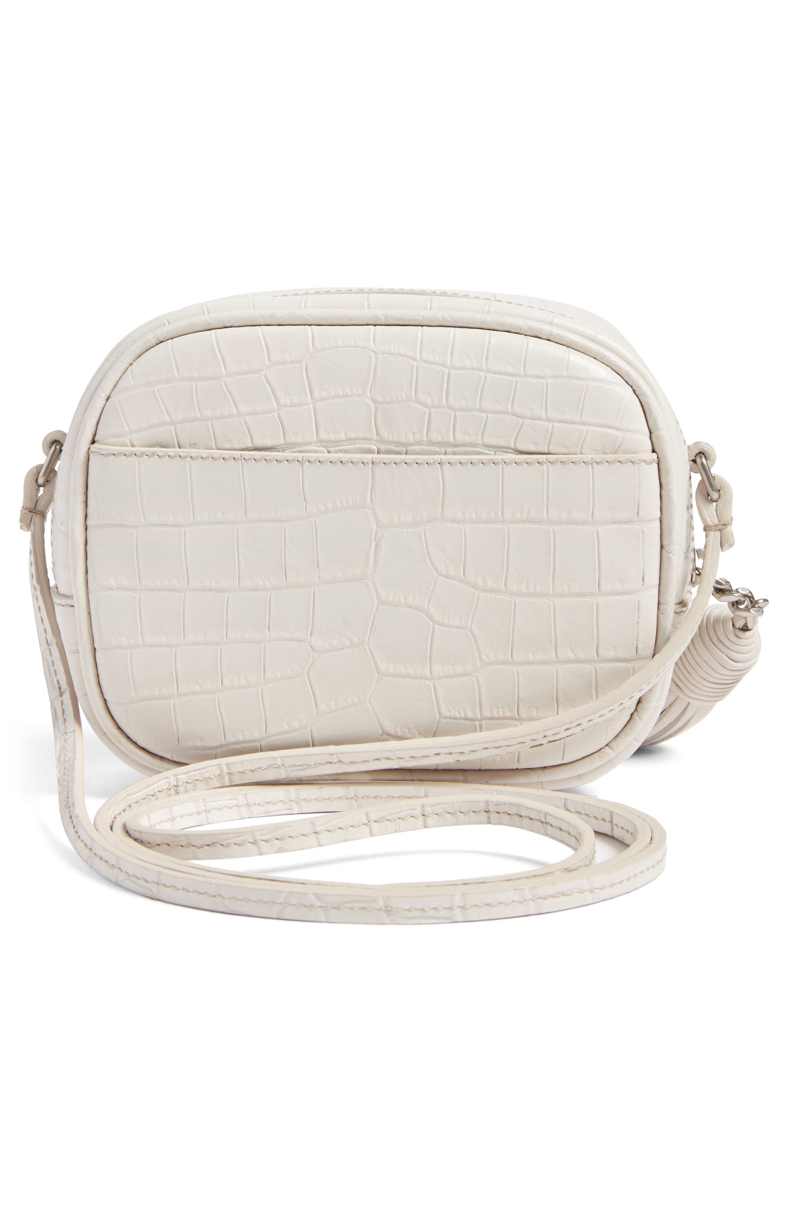 Monogram Blogger Leather Crossbody Bag,                             Alternate thumbnail 2, color,                             Icy White