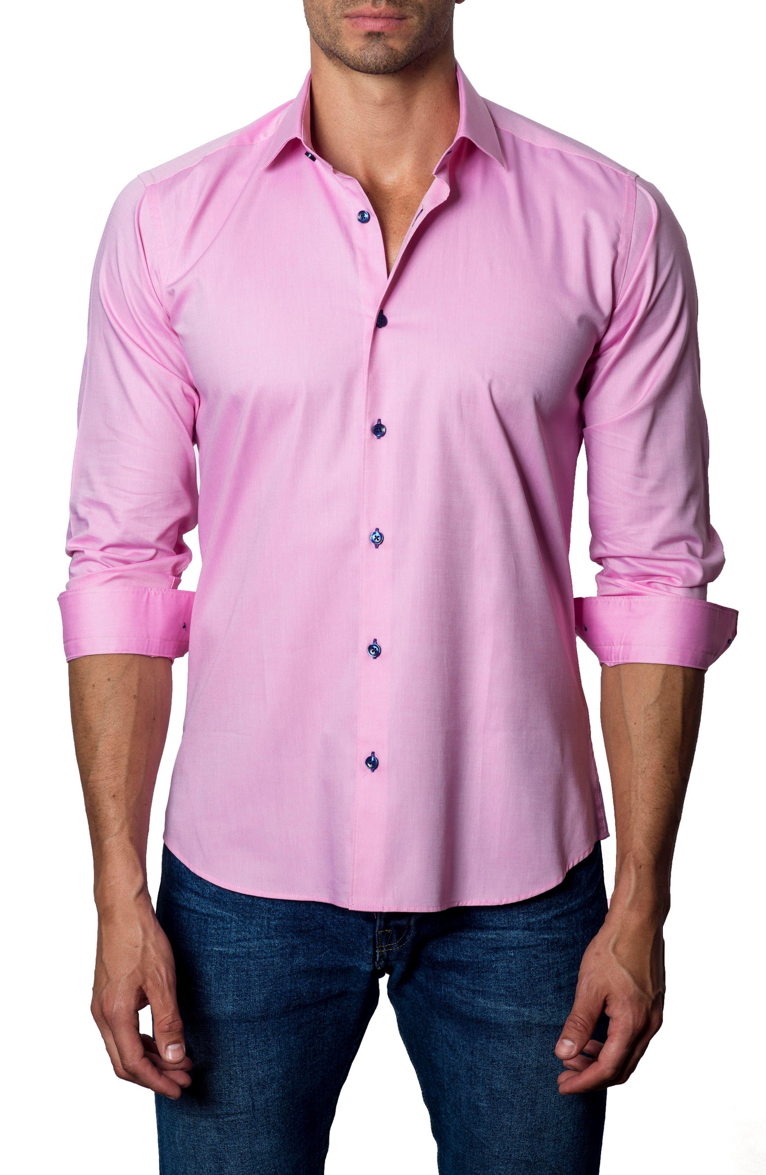 Sport Shirt,                             Main thumbnail 1, color,                             Salmon Pique