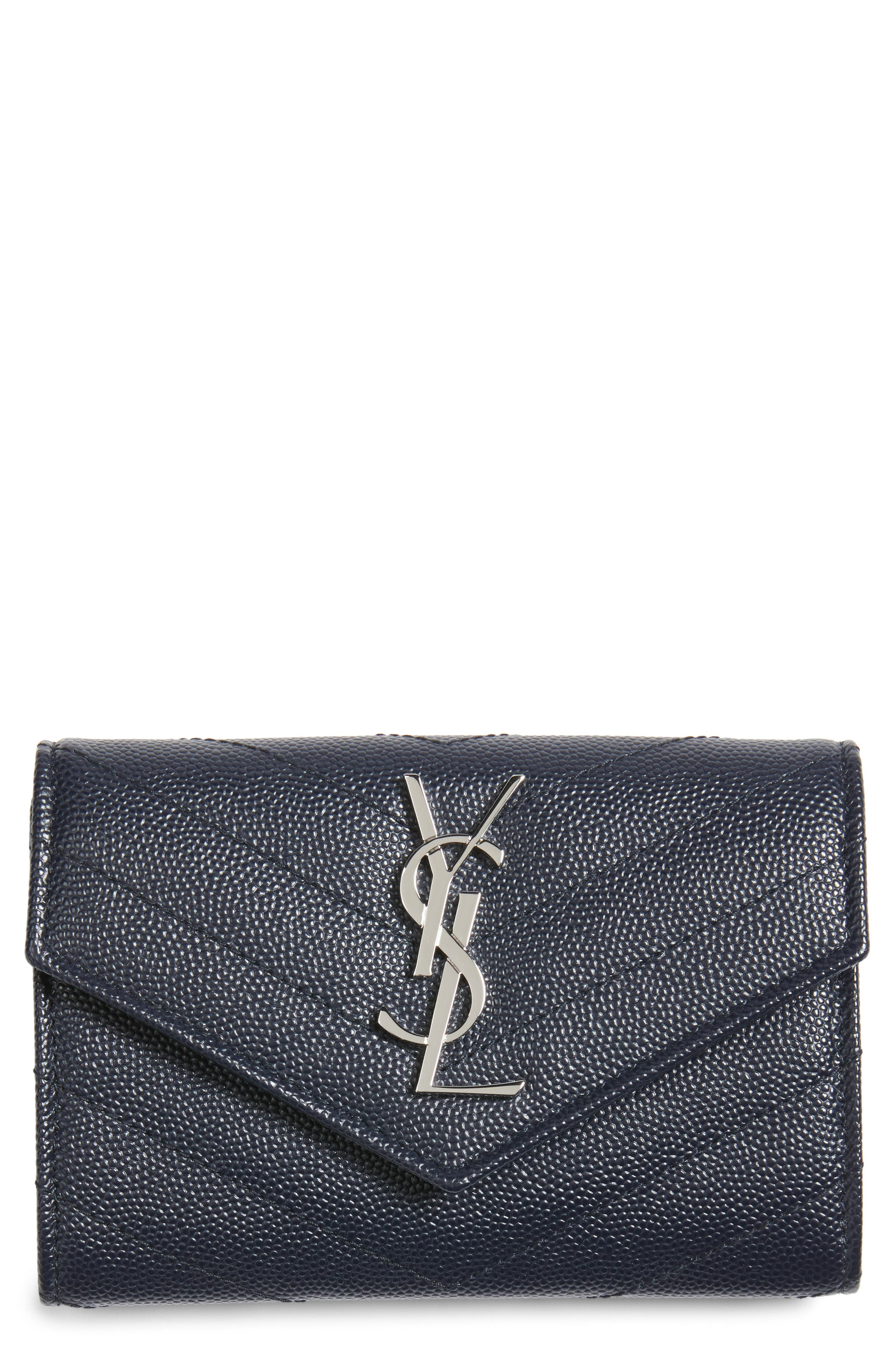Saint Laurent 'Small Monogram' Leather French Wallet