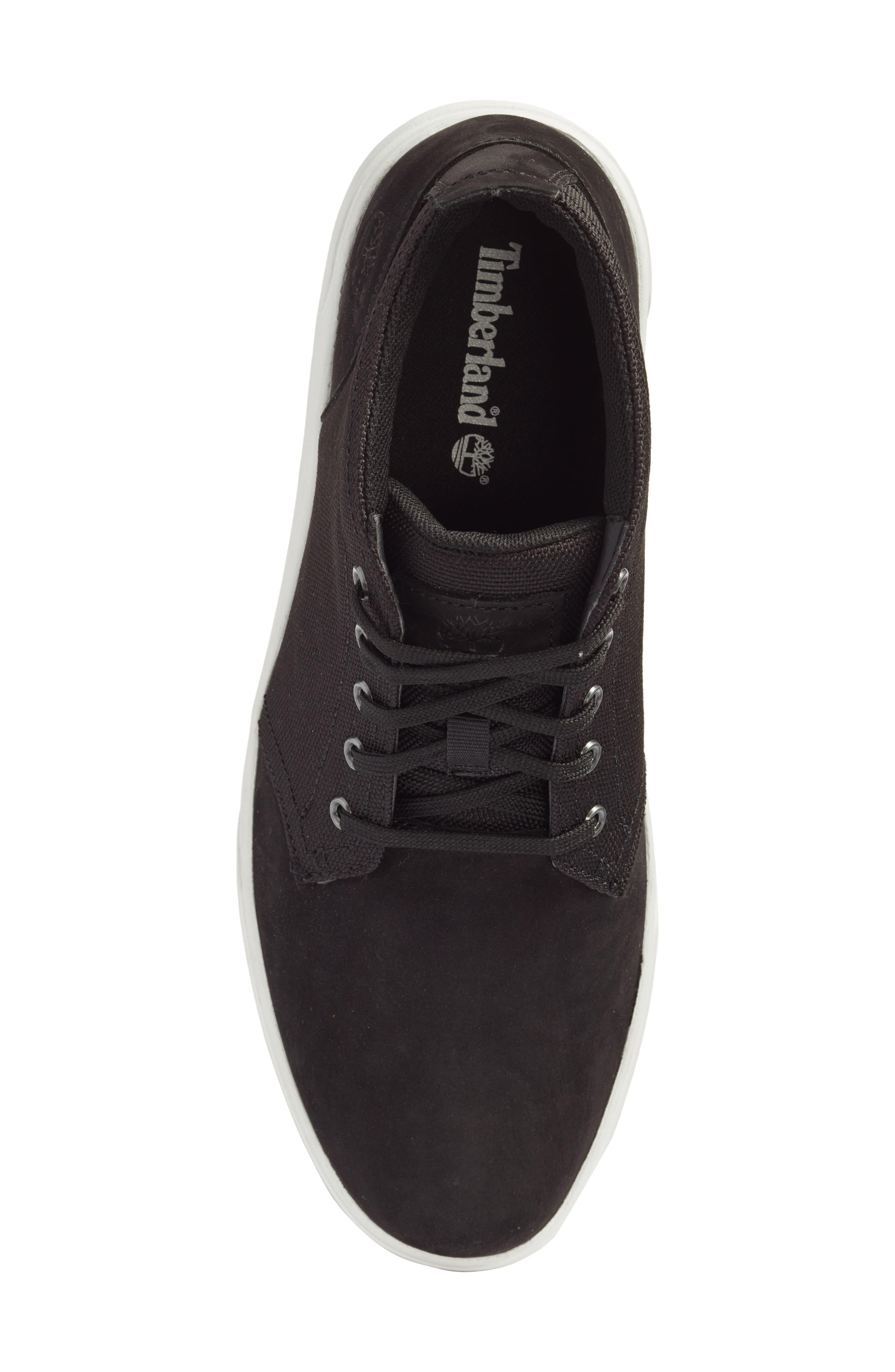Earthkeepers<sup>™</sup> 'Groveton' Chukka Sneaker,                             Alternate thumbnail 5, color,                             Black Nubuck/ Canvas