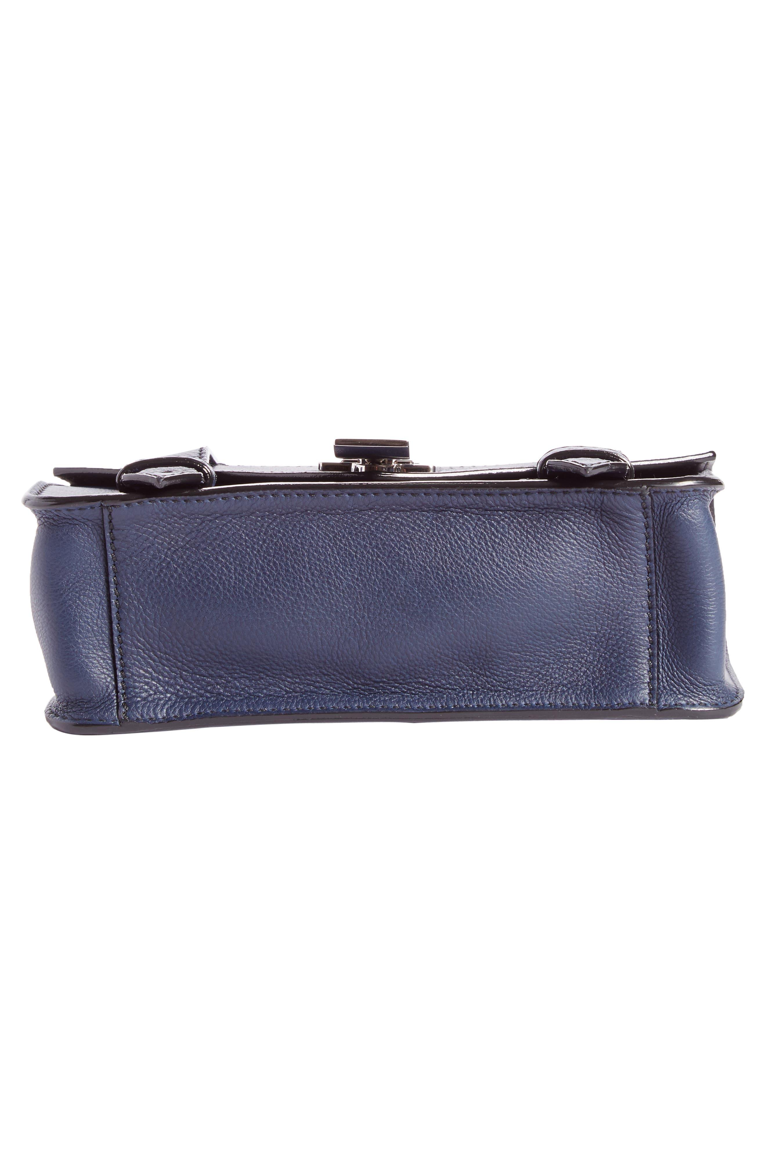 Mini PS1 Leather Crossbody Bag,                             Alternate thumbnail 5, color,                             Indigo
