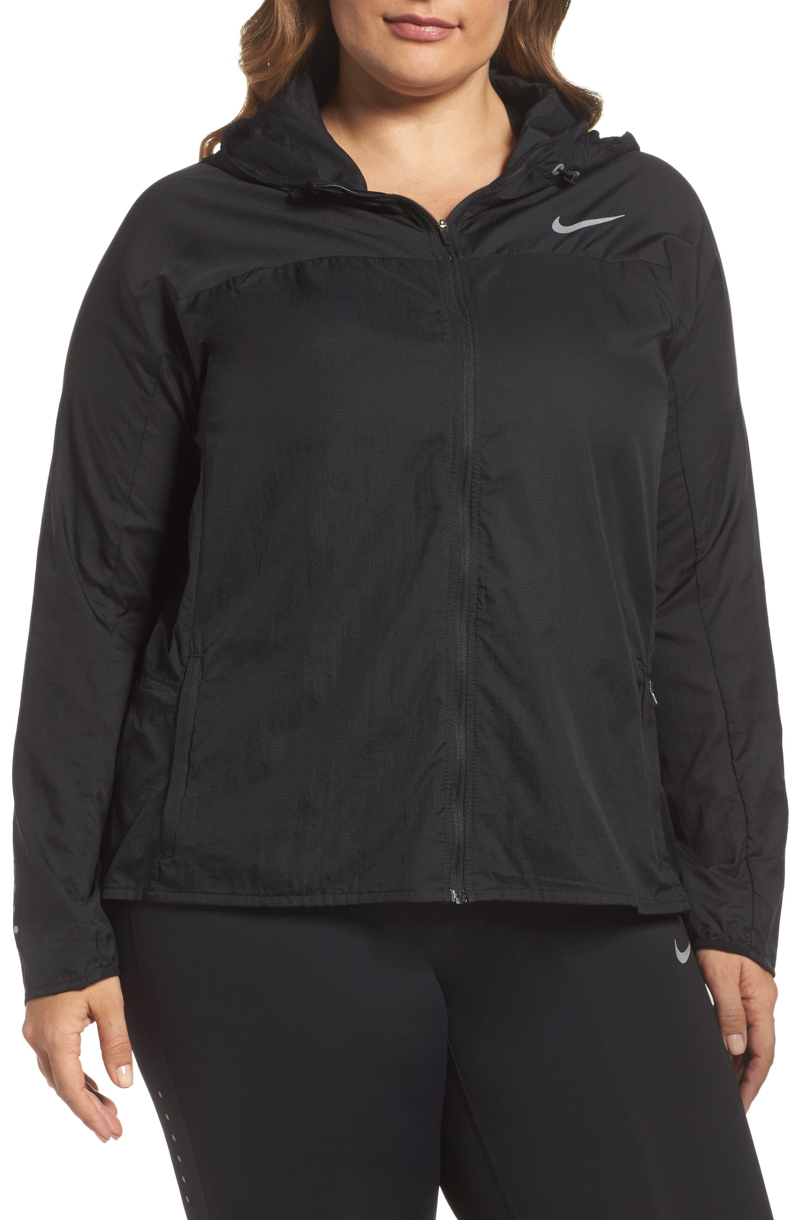 Main Image - Nike Impossibly Light Hooded Jacket (Plus Size)