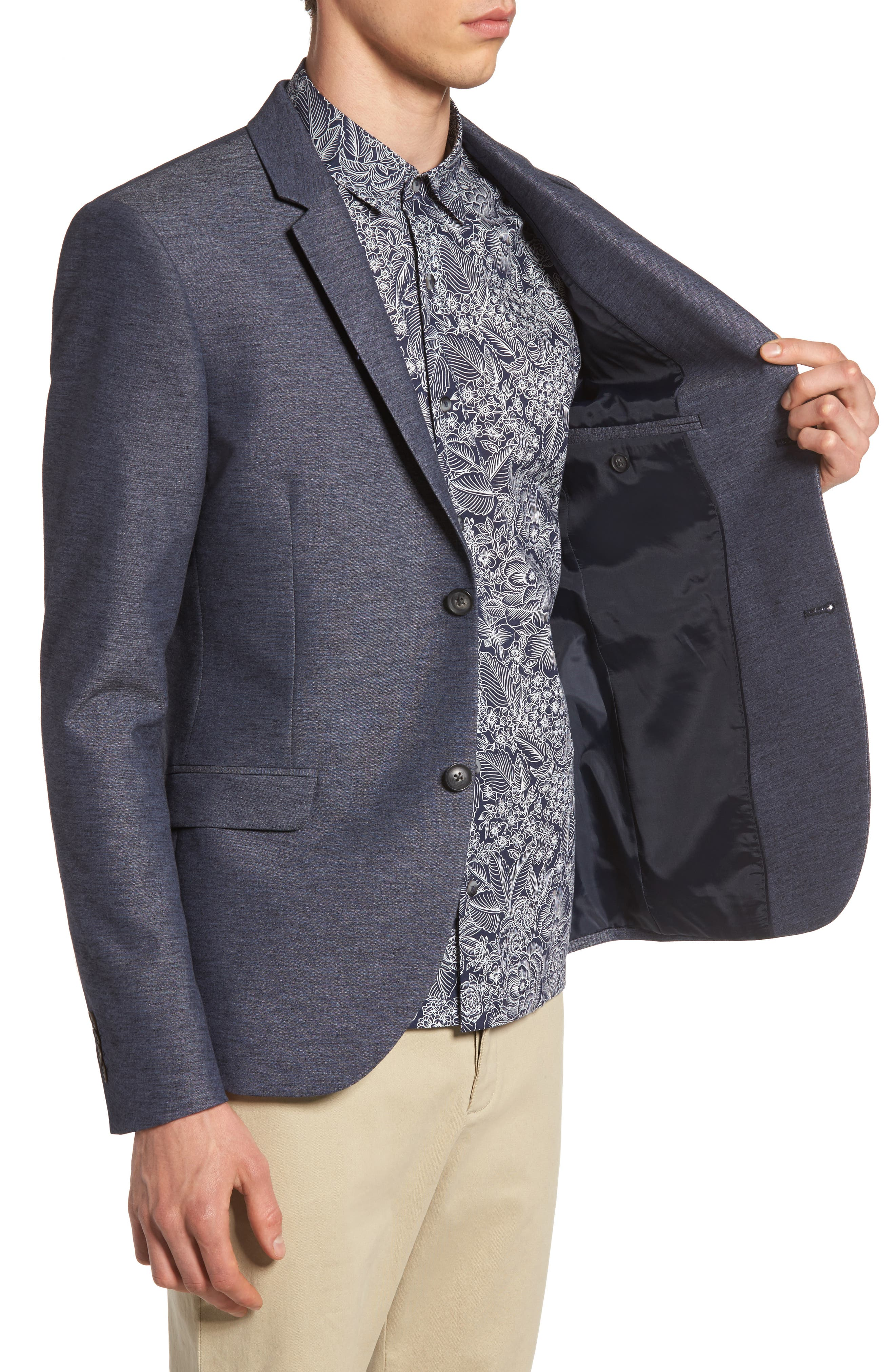 Alternate Image 3  - Topman Slim Fit Jersey Blazer