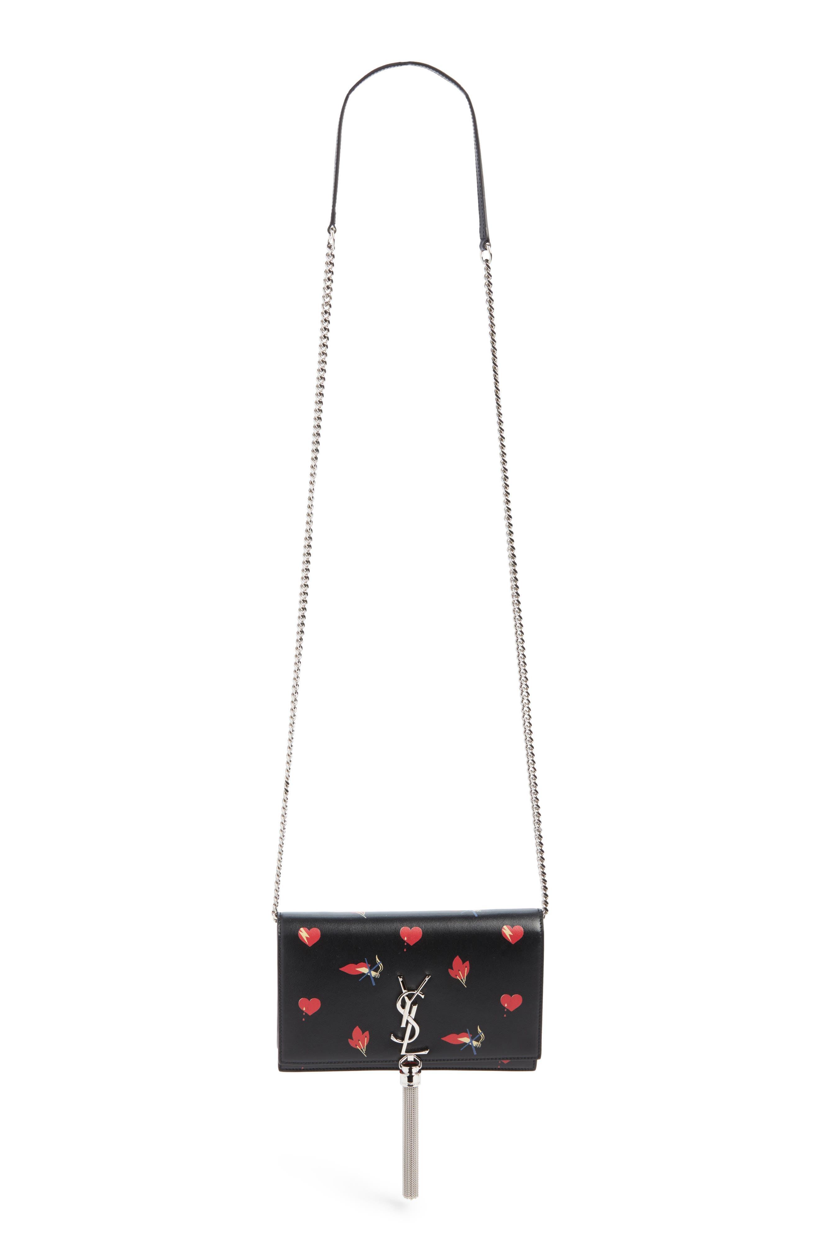 SAINT LAURENT Mini Kate Leather Wallet on a Chain