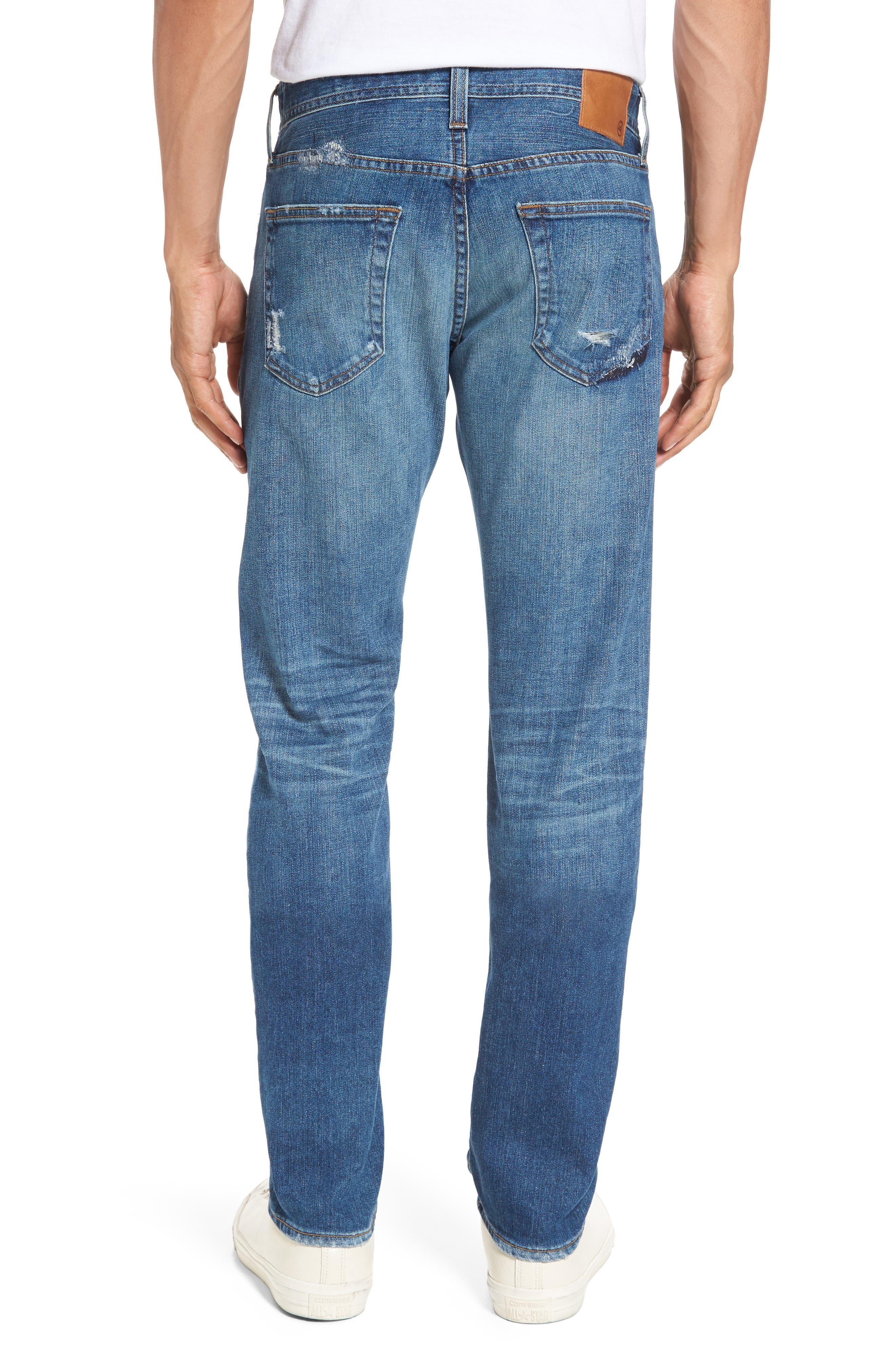 Alternate Image 2  - AG Tellis Slim FIt Jeans (16 Years Rave Mended)