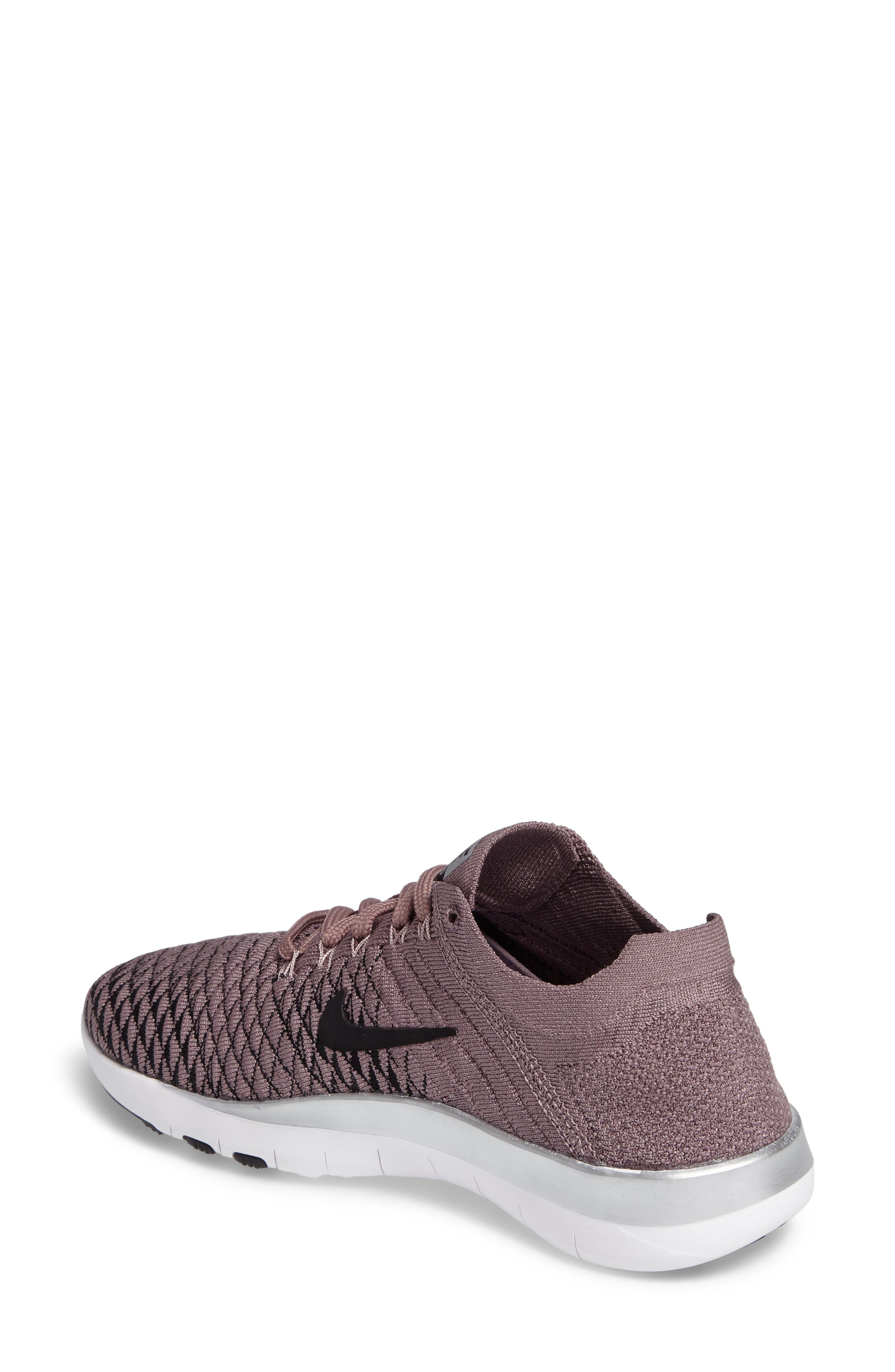 Free Focus Flyknit 2 Bionic Training Shoe,                             Alternate thumbnail 3, color,                             Taupe Grey/ Black/ Chrome