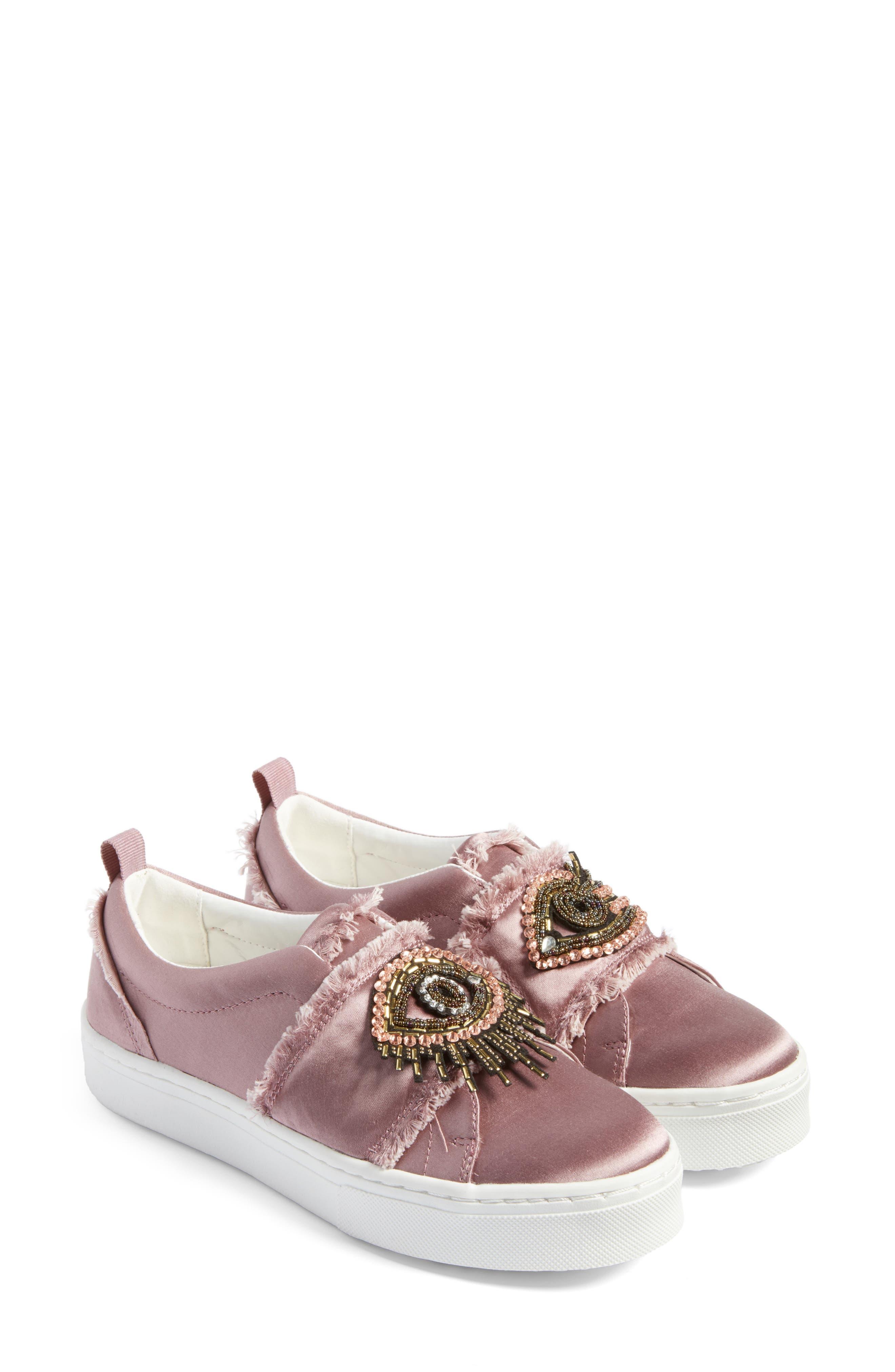 Levine Sneaker,                             Main thumbnail 1, color,                             Pearl Pink Satin