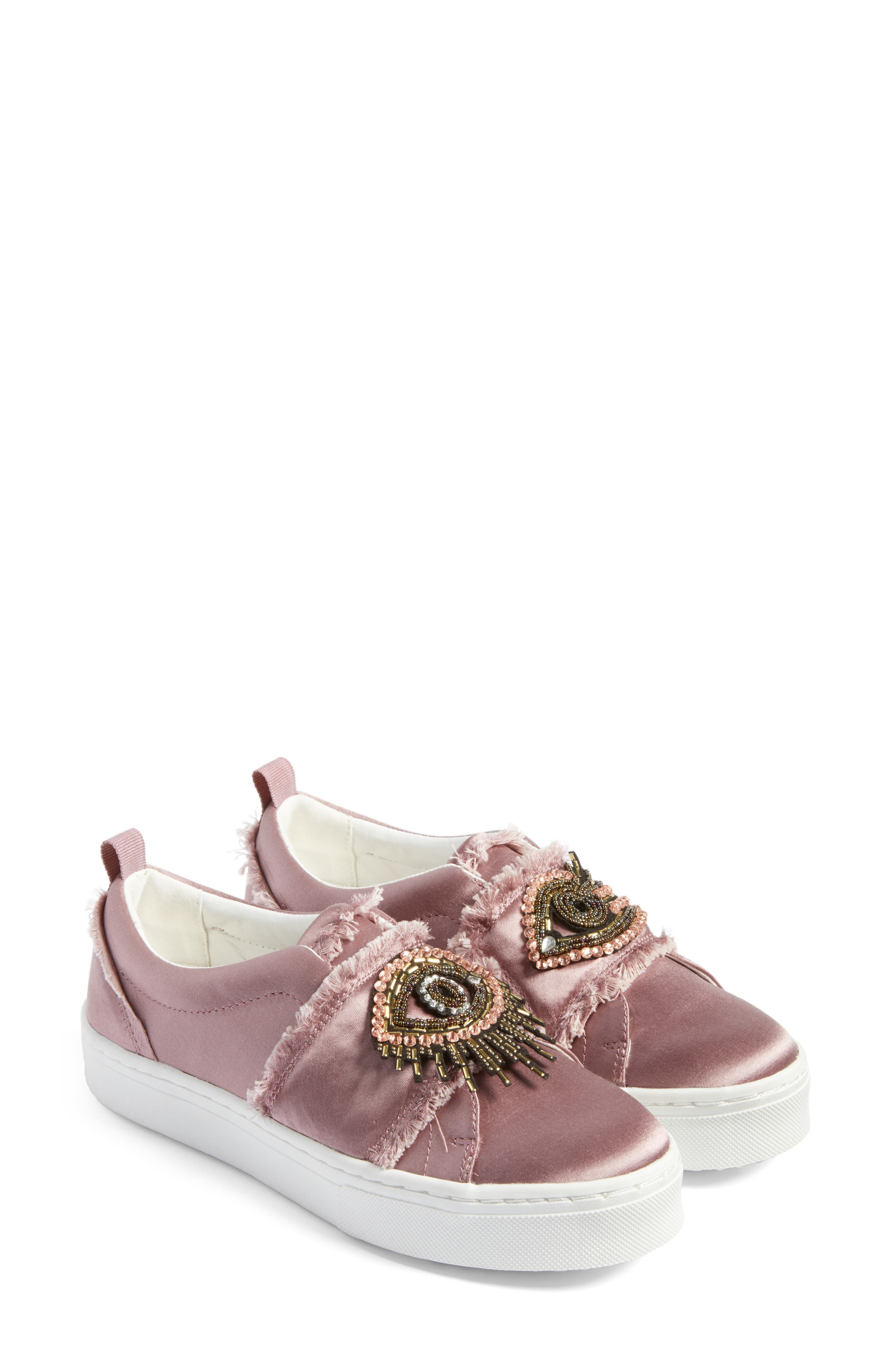 Levine Sneaker,                         Main,                         color, Pearl Pink Satin