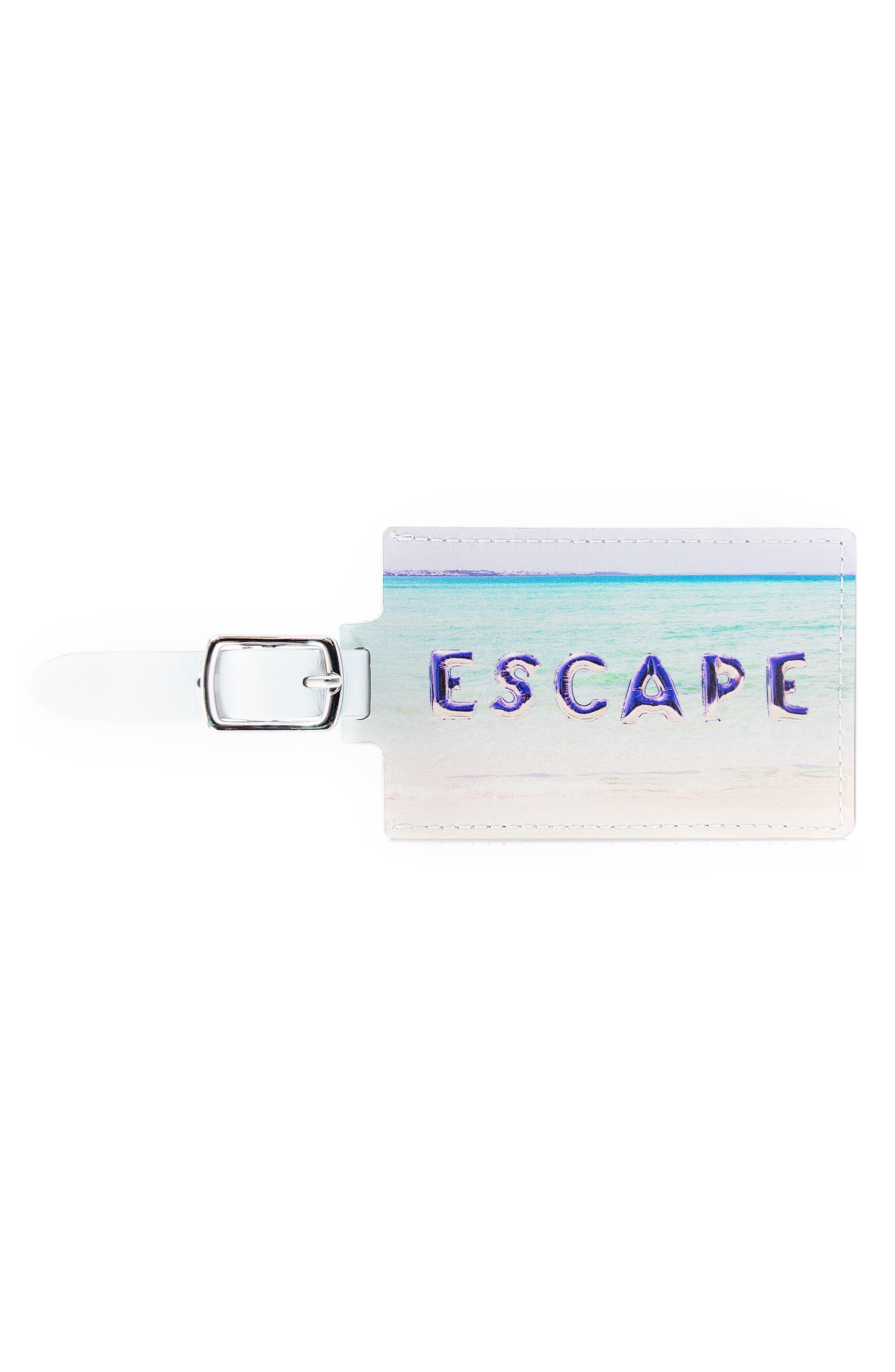 Main Image - Gray Malin Escape Leather Luggage Tag
