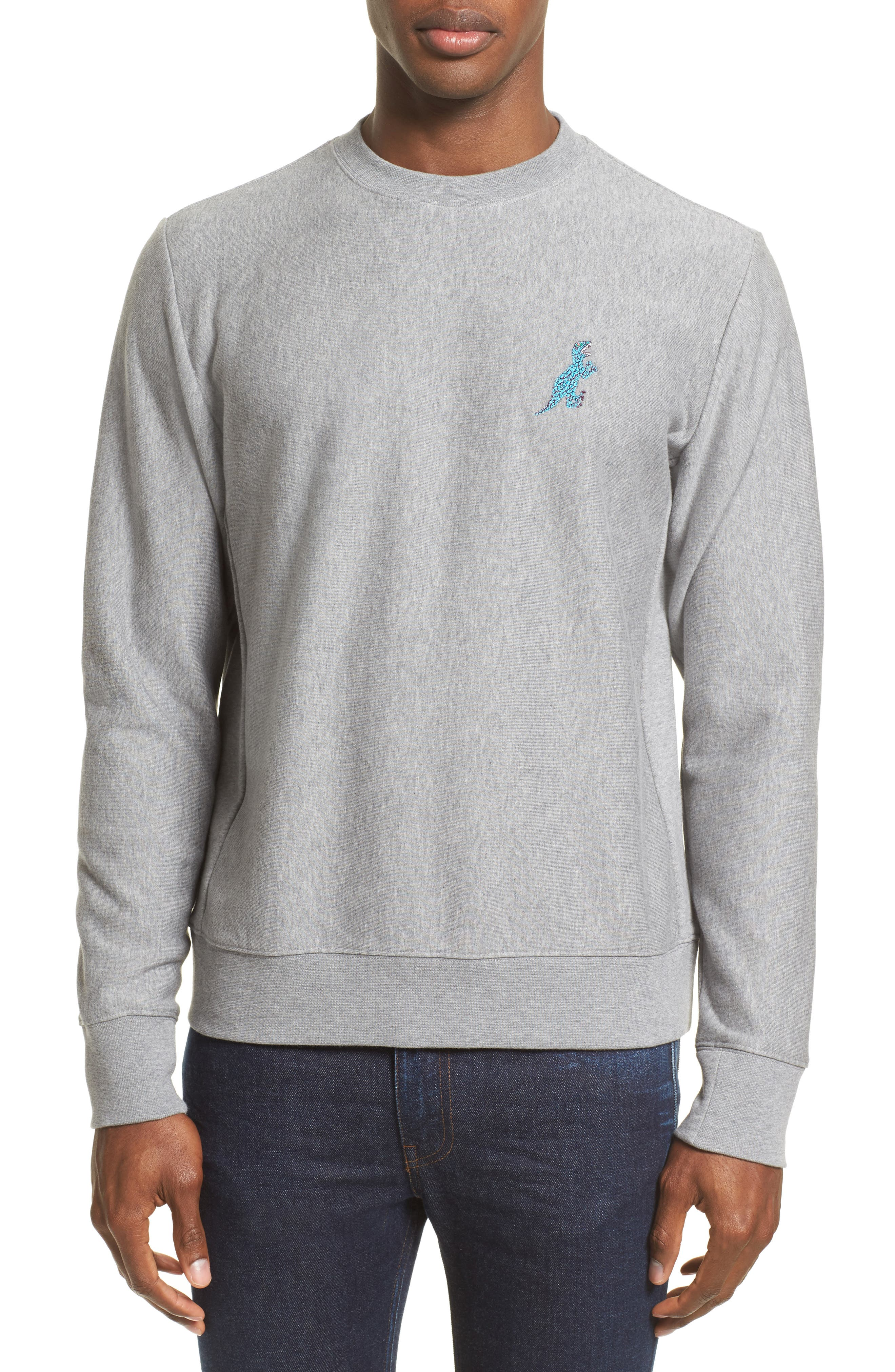 Alternate Image 1 Selected - PS Paul Smith Dino Dino Embroidered Sweatshirt