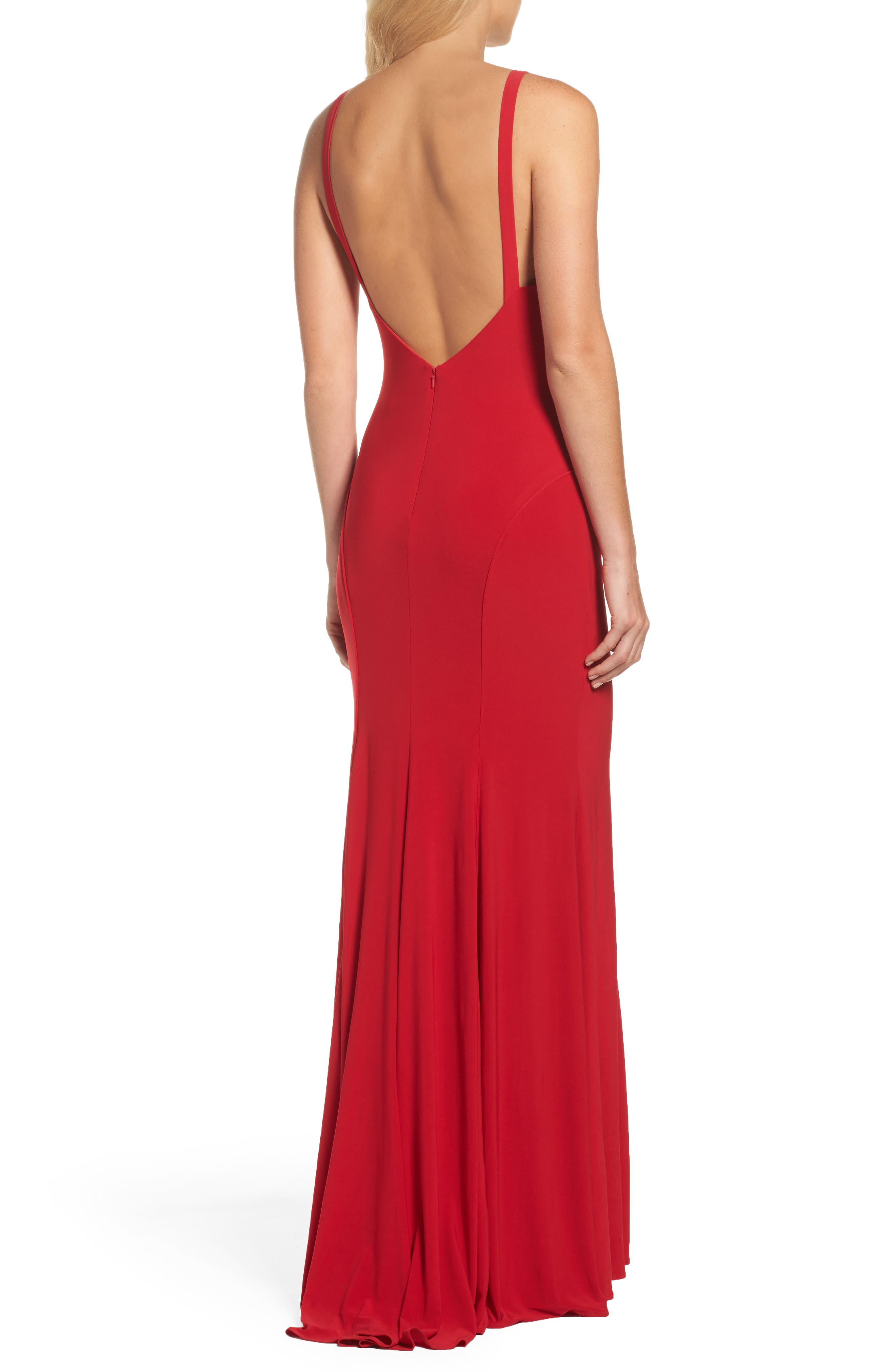 Jersey Gown,                             Alternate thumbnail 2, color,                             Red