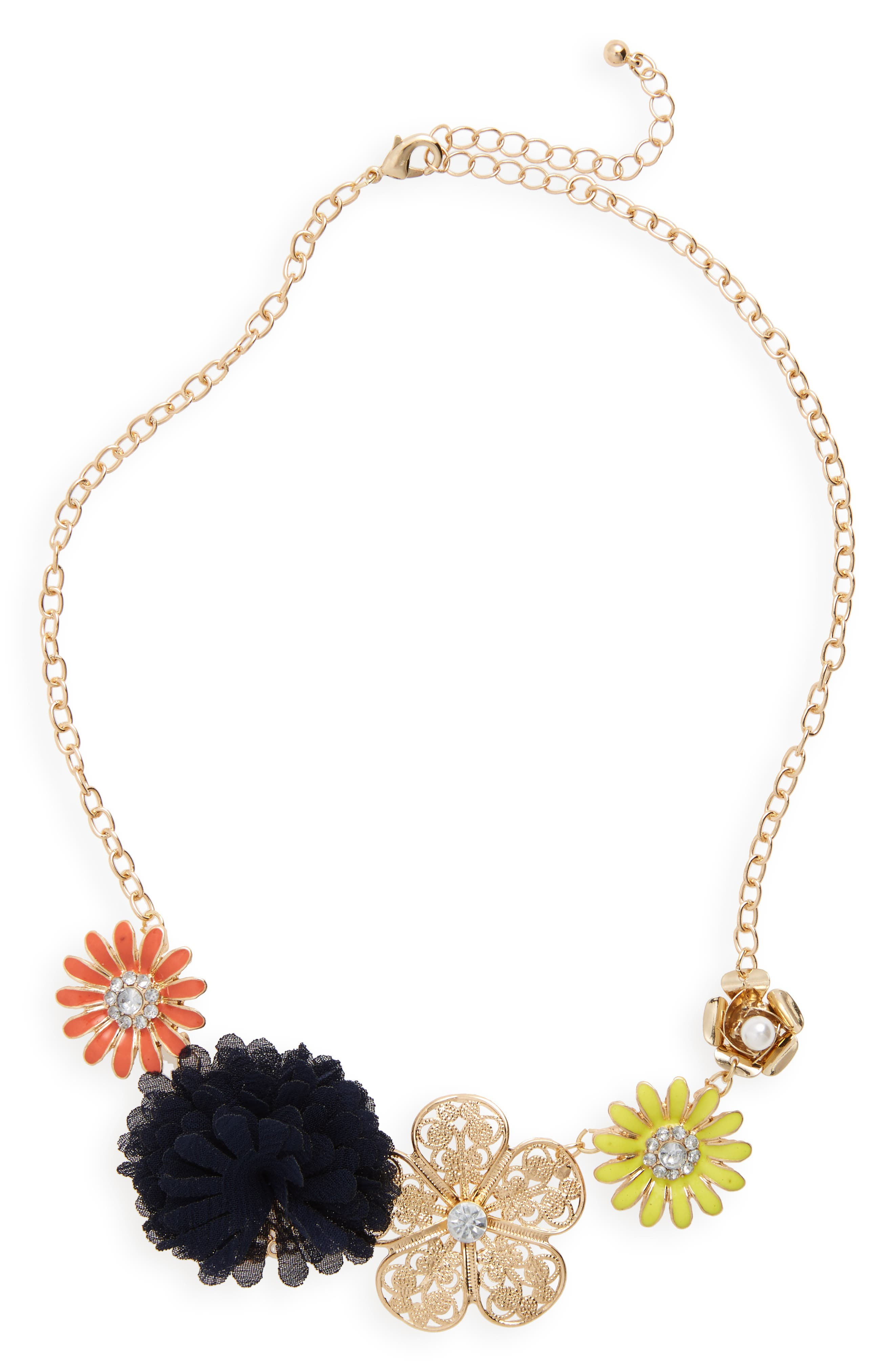 Capelli of New York Flower Necklace (Girls)