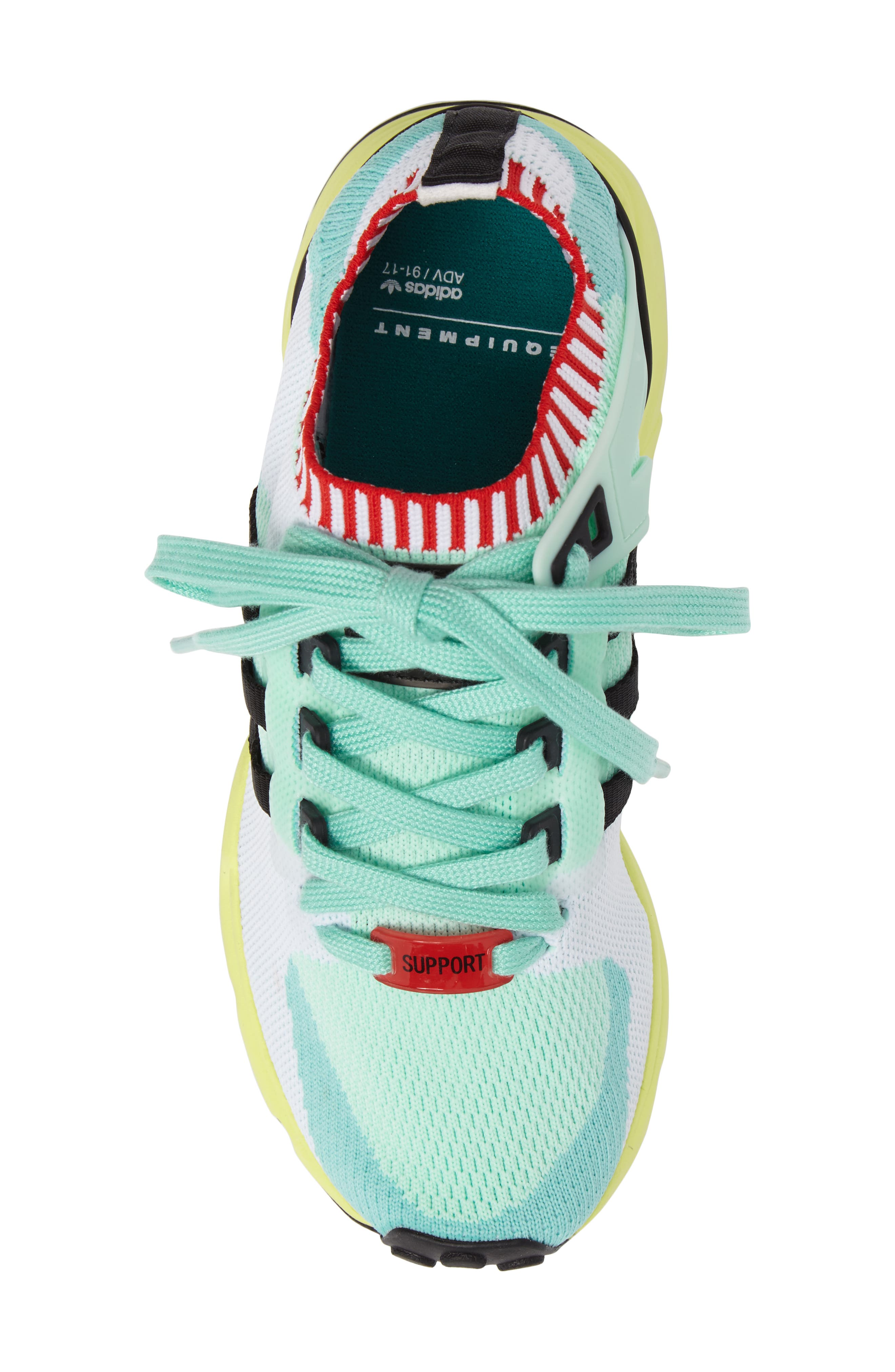 EQT Support RF Sneaker,                             Alternate thumbnail 4, color,                             Green/ Core Black/ Green