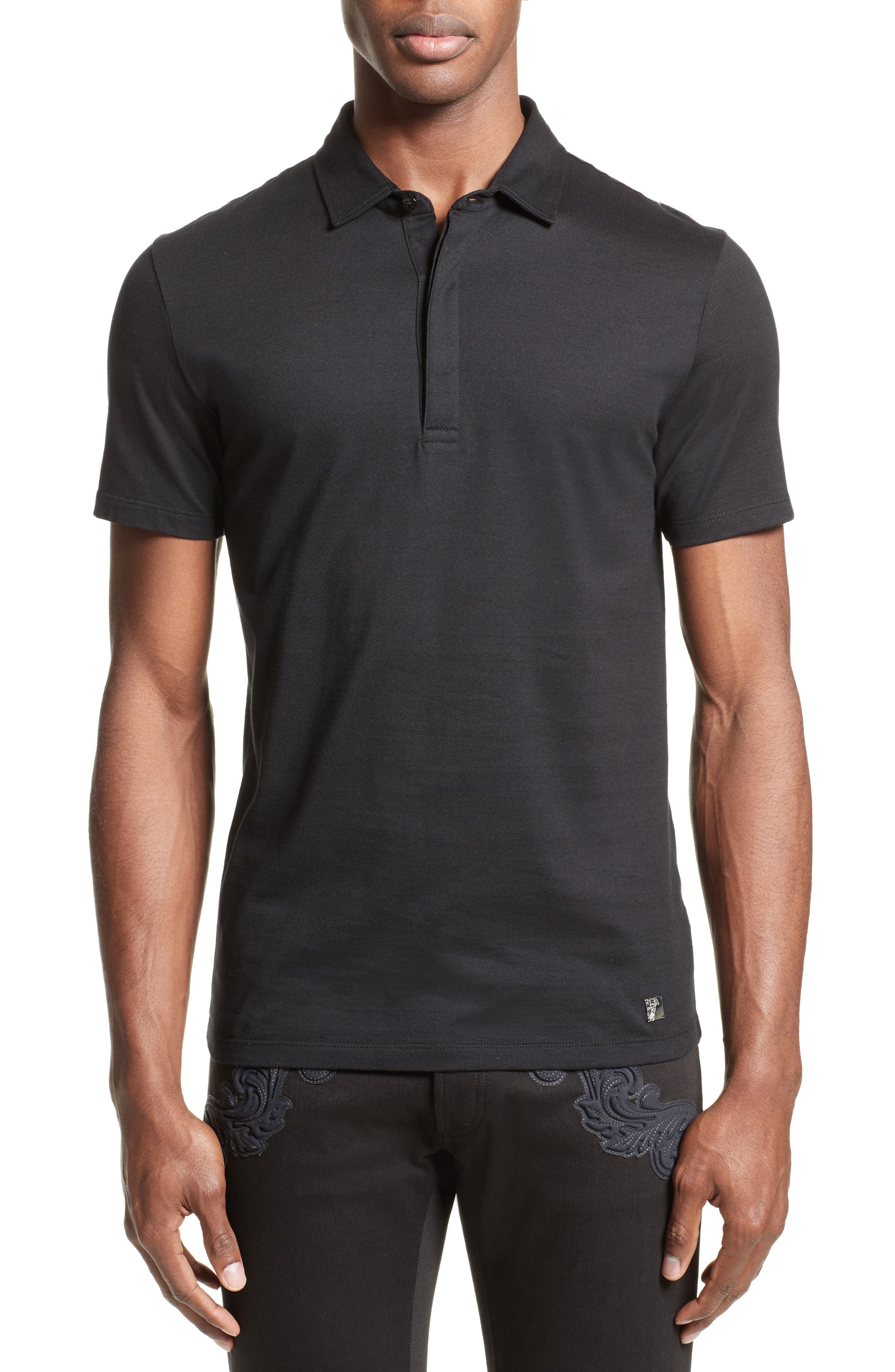 Alternate Image 1 Selected - Versace Collection Medusa Foil Back Polo