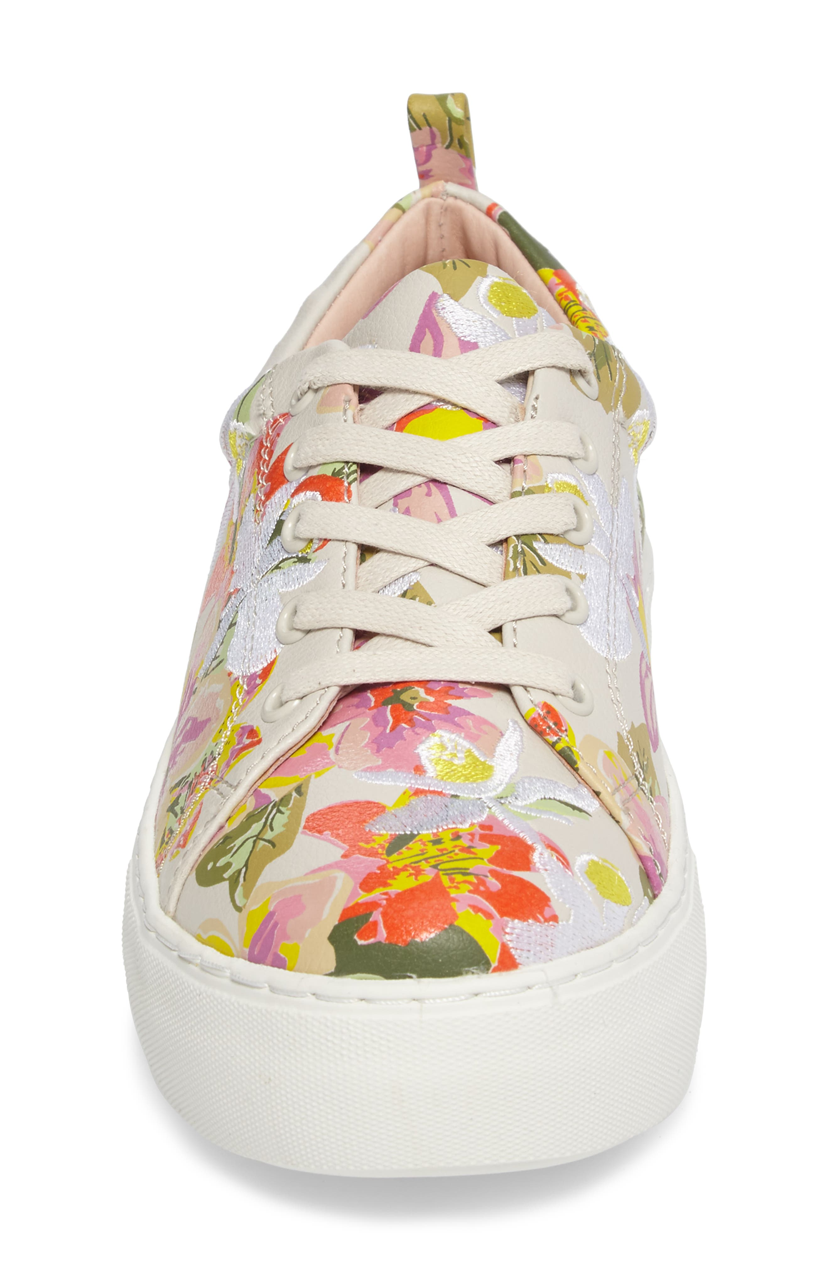 Appy Embroidered Platform Sneaker,                             Alternate thumbnail 4, color,                             Pink Multi Fabric