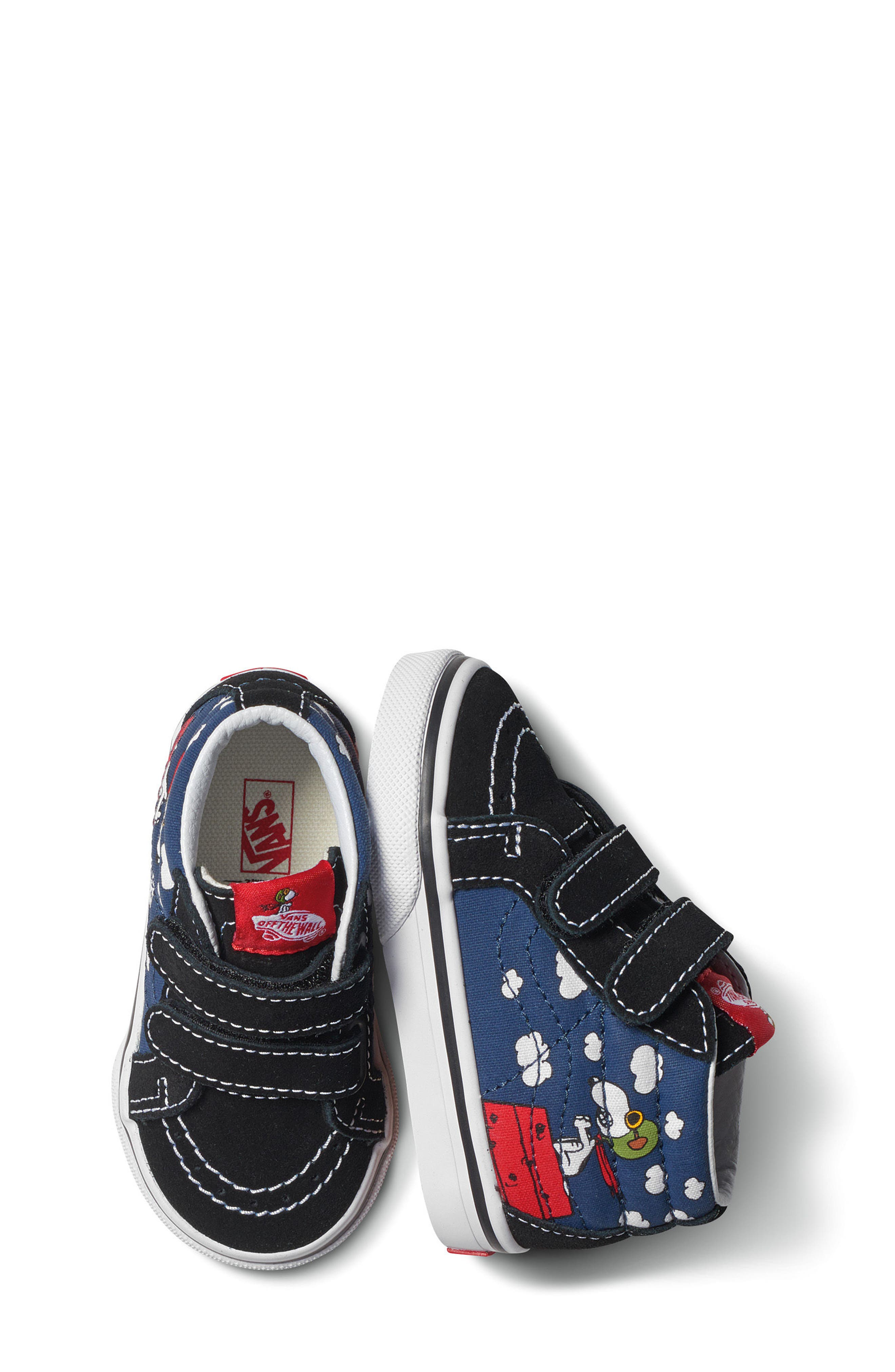 x Peanuts SK8-Mid Reissue V Sneaker,                             Alternate thumbnail 8, color,                             Flying Ace/ Blue Canvas