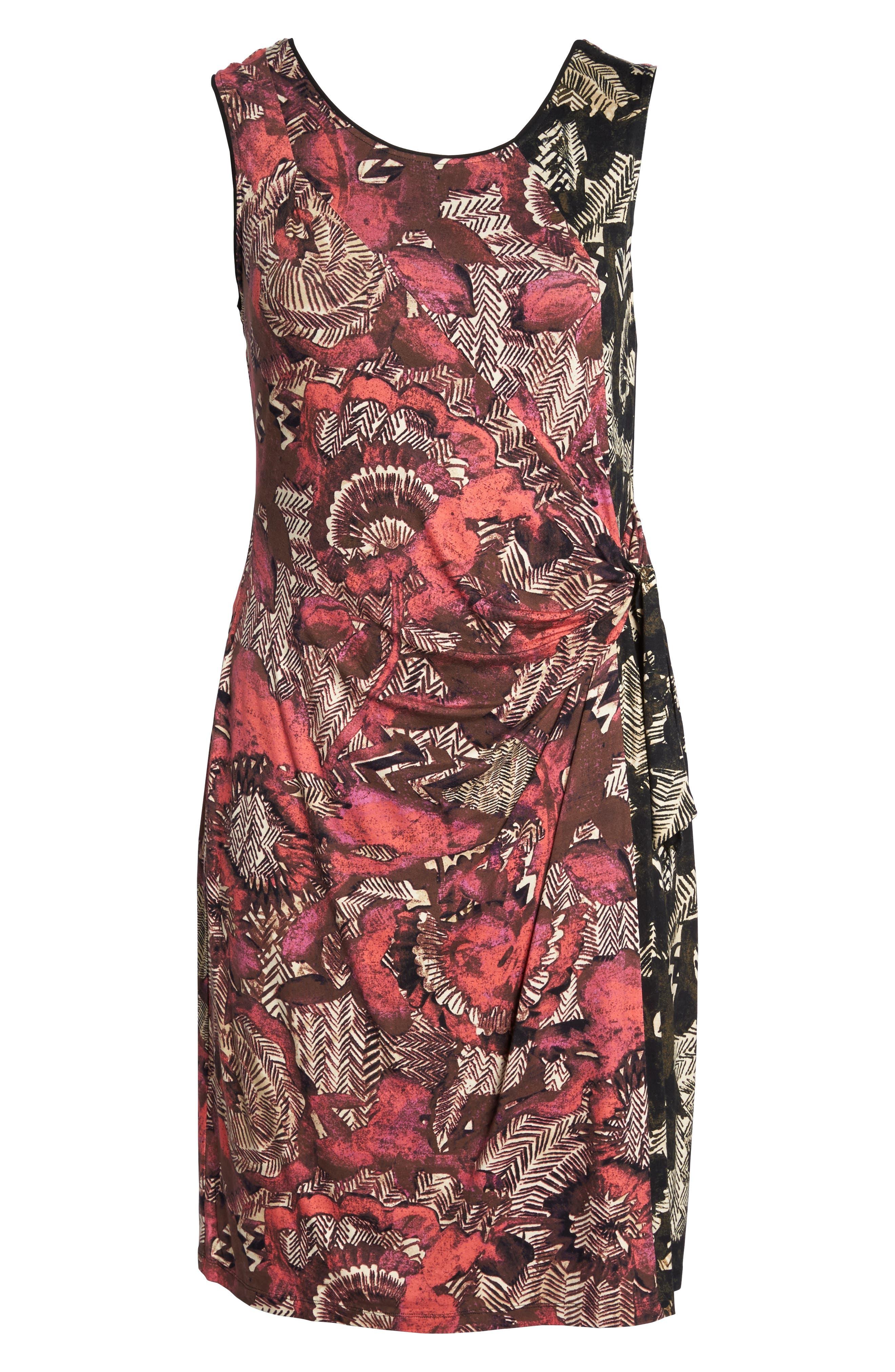 Etched Floral Dress,                             Alternate thumbnail 6, color,                             Multi