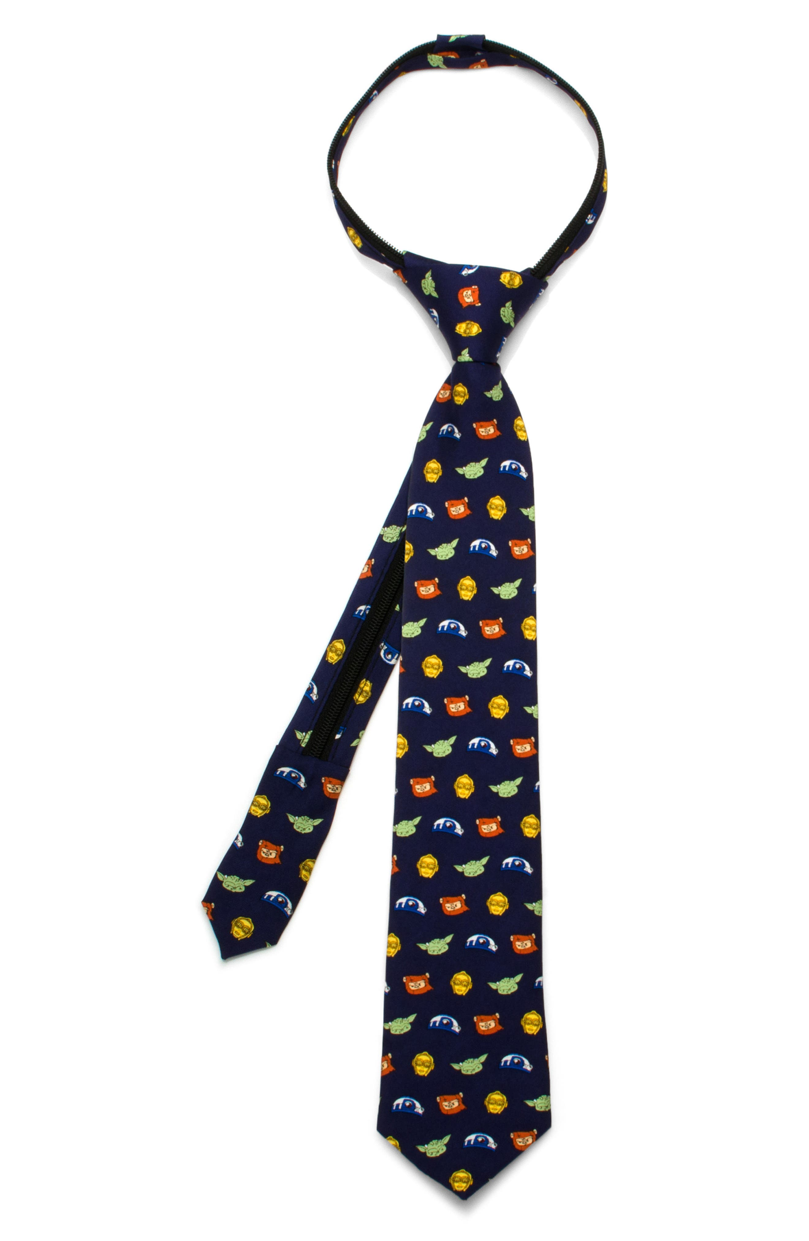 Star Wars - Rebels Zip Silk Tie,                         Main,                         color, Blue